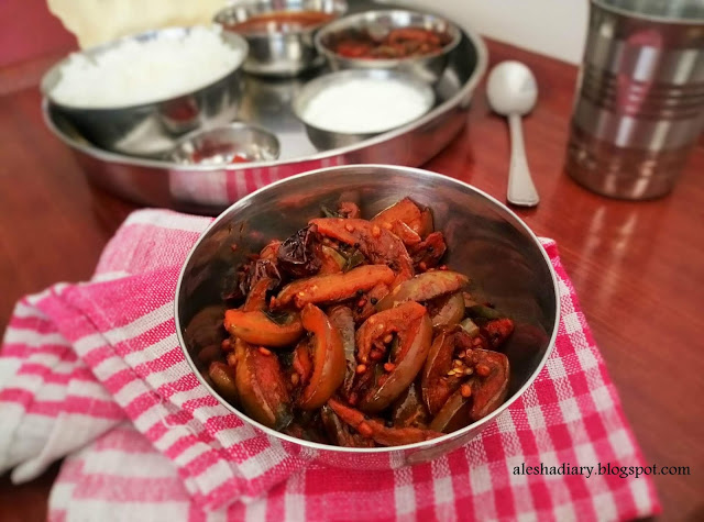 Brinjal masala stir fry – கத்தரிக்காய் மசாலா ஃப்ரை(Kathirikai masala fry)