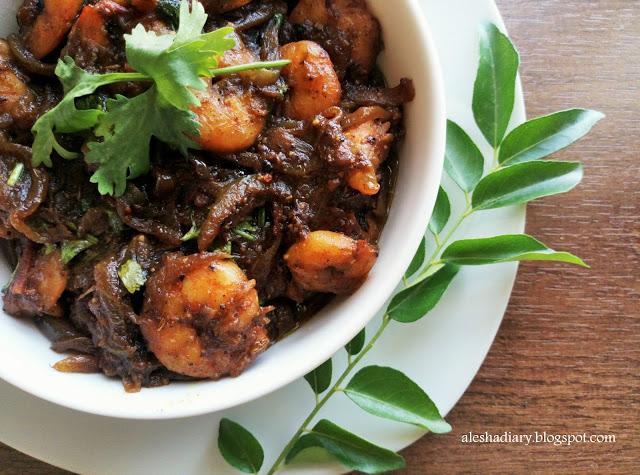 Pepper Prawns masala – இறால் மிளகு மசாலா(Eral milagu masala)