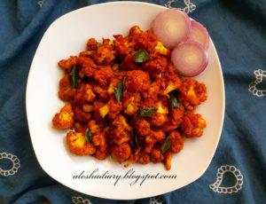 Spicy Cauliflower(Gobi) stir fry  – காலி பிளவர் ஃப்ரை