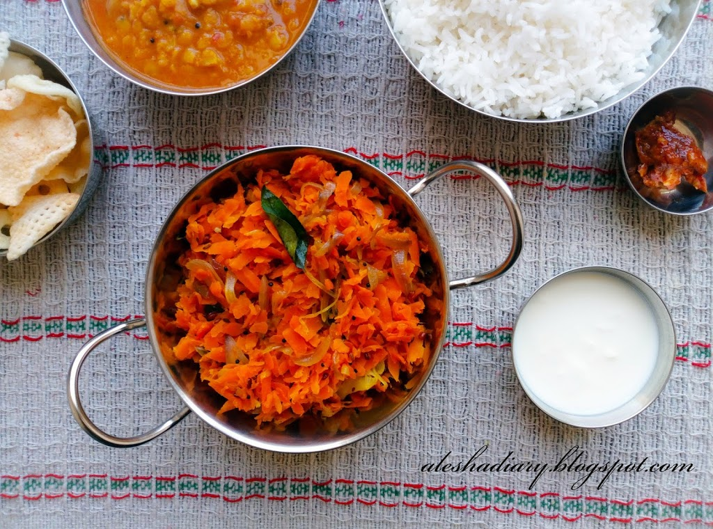 What I cooked for Lunch? – Carrot poriyal-Carrot stir fry-கேரட் பொரியல்