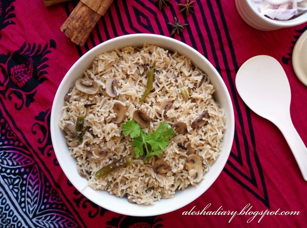 Mushroom Pulao – மஸ்ரூம் புலாவ்