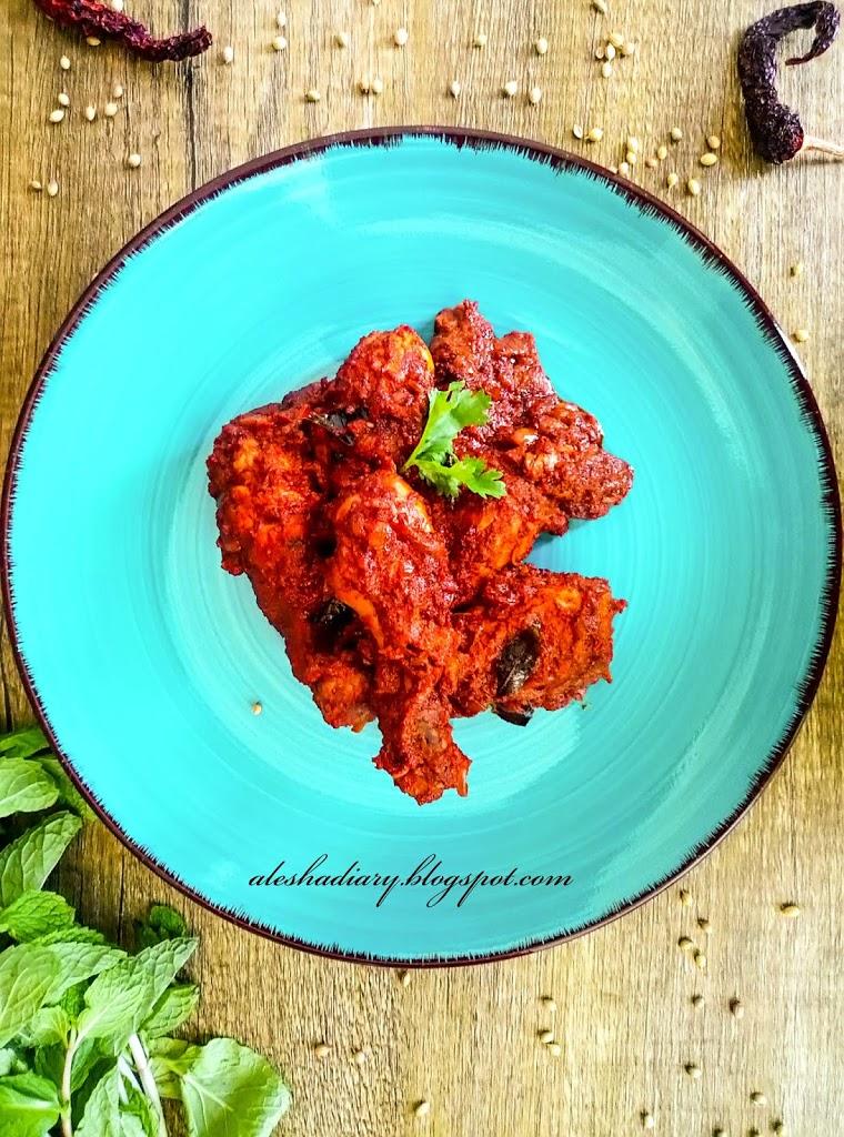 Chicken Ghee Roast – Mangalorean style Chicken Ghee Roast –  Dry Chicken Roast