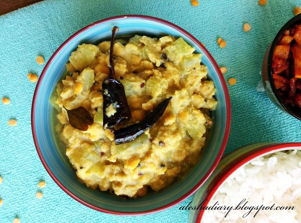 White pumpkin Chana dal Curry – Pumpkin dal Curry – Pumpkin kootu -வெள்ளை பூசணிக்காய் பருப்பு கூட்டு
