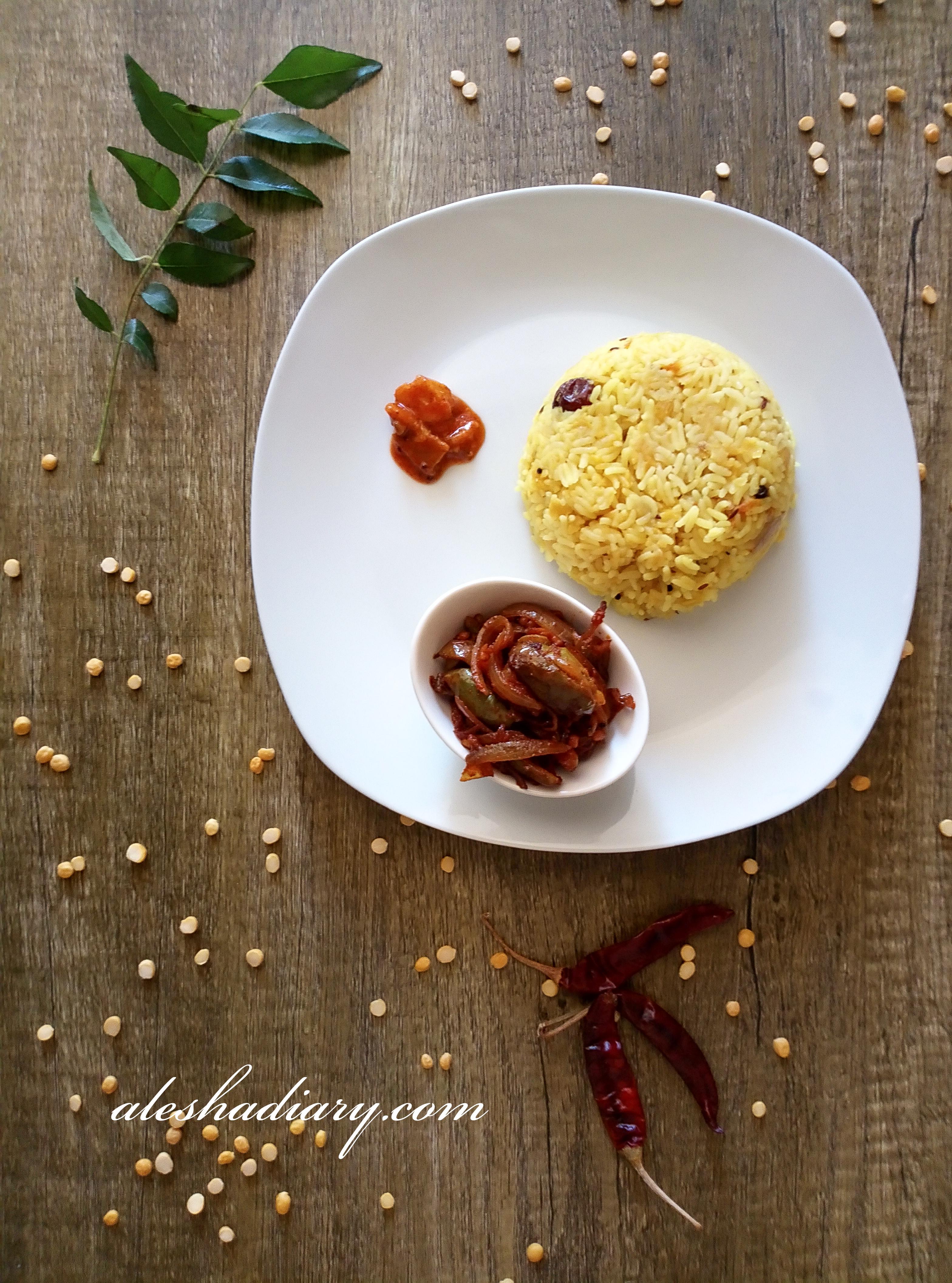 Arisi Paruppu Sadam – அரிசி பருப்பு சாதம் – Dal Rice Recipe