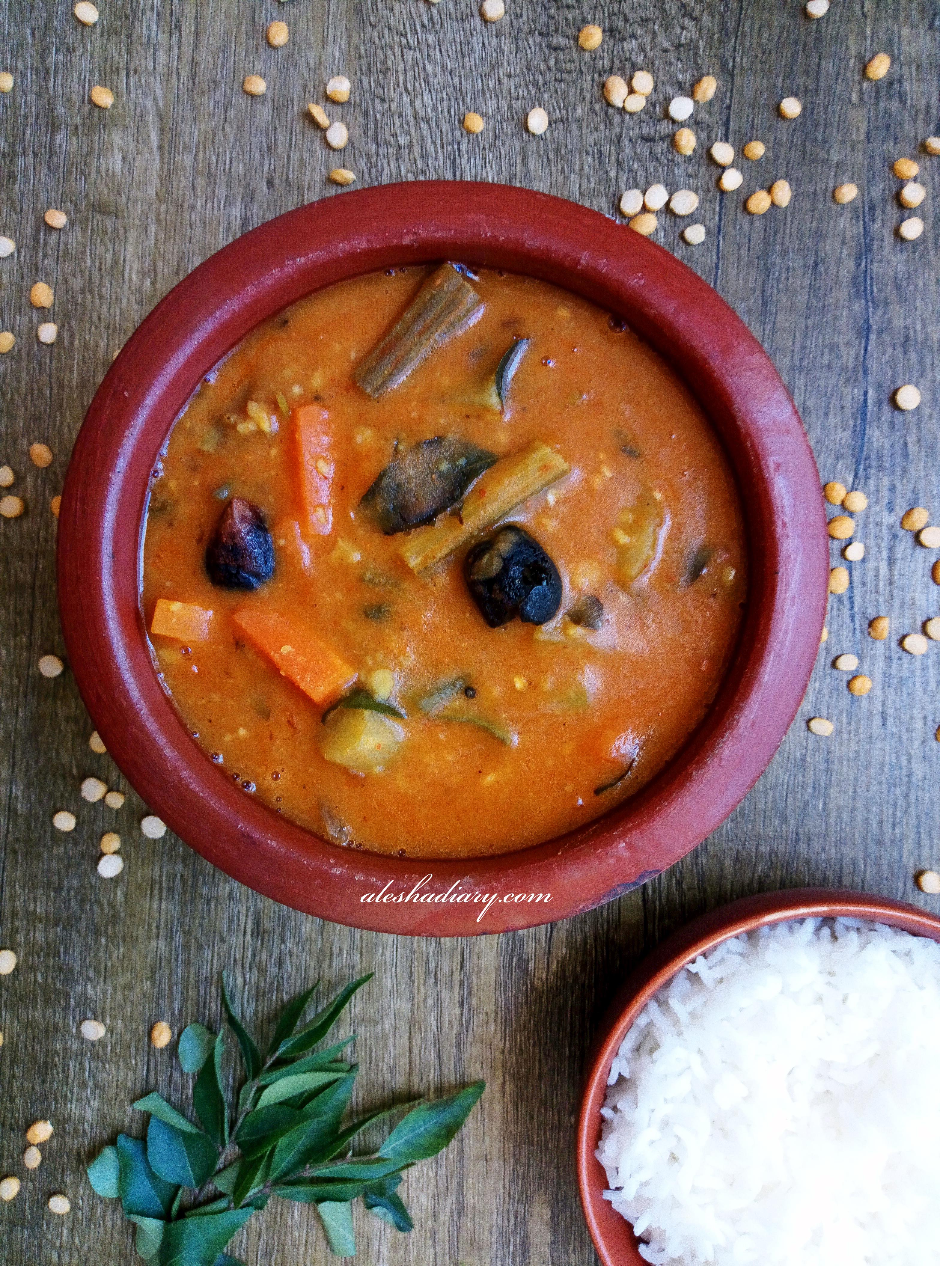 MIXED VEGETABLE SAMBAR – Sambar – How to make Sambar – சாம்பார்