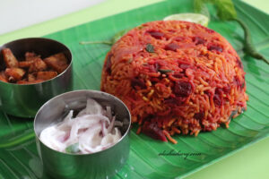Beetroot Biryani in Pressure cooker