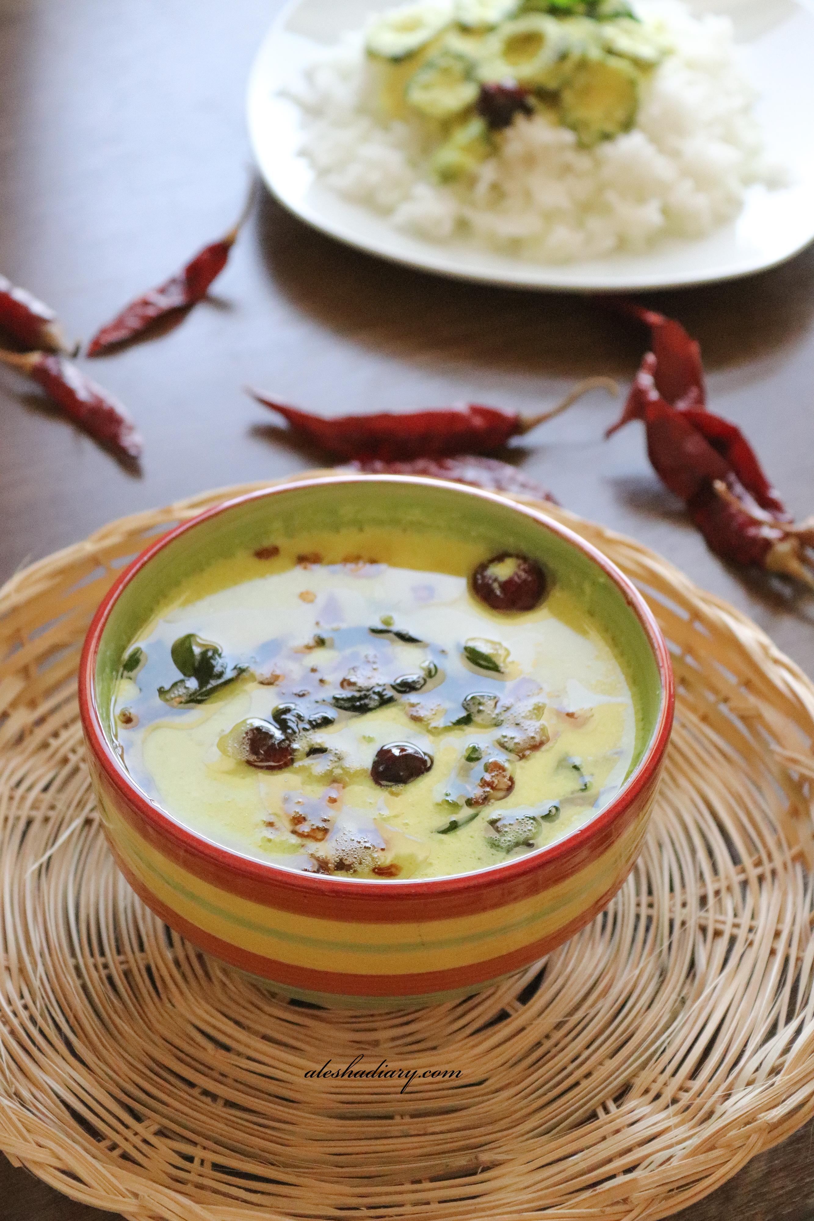 Pavakkai(Pagarkai) mor kuzhambu – Pavakka(Kaipakka) moru curry – Bittergourd yogurt curry