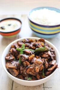 Kerala style Mushroom Roast – Koon Ularthiyathu