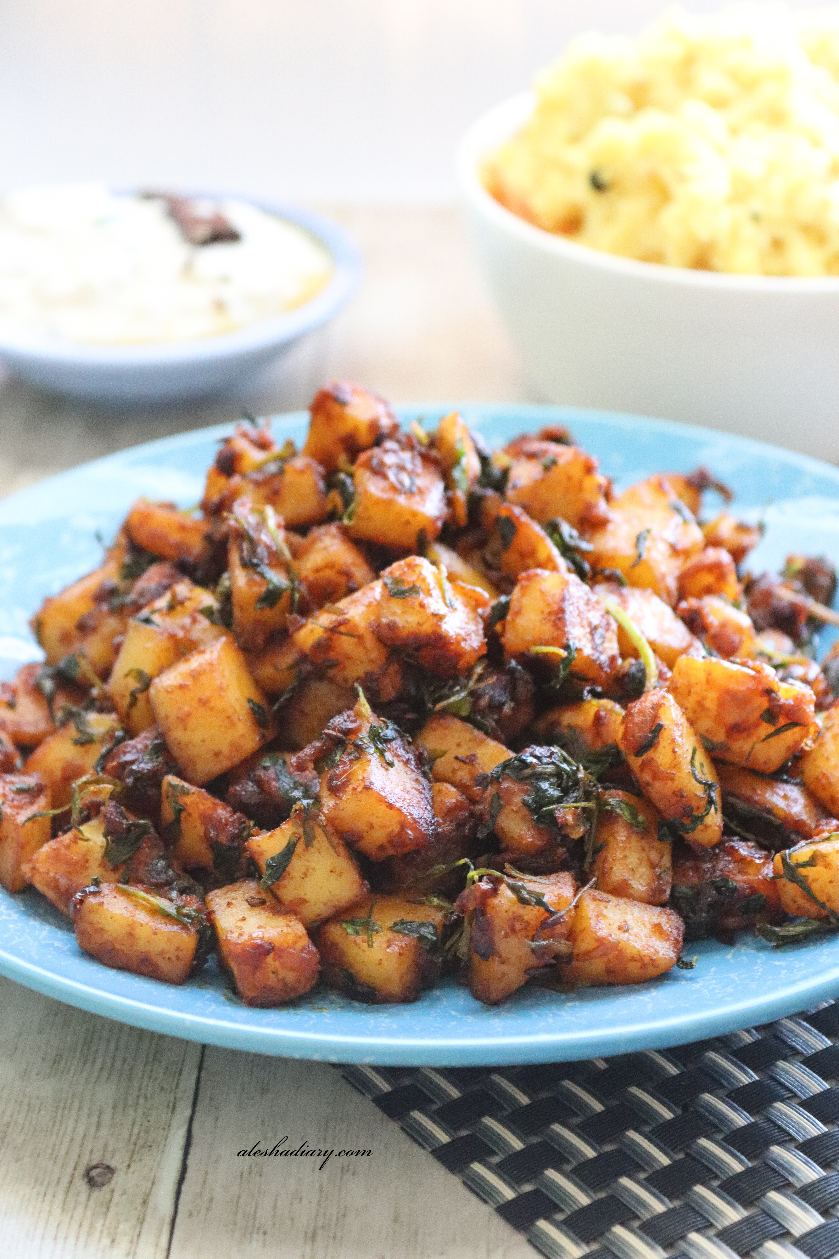 Aloo methi fry – Potato with fenugreek leaves
