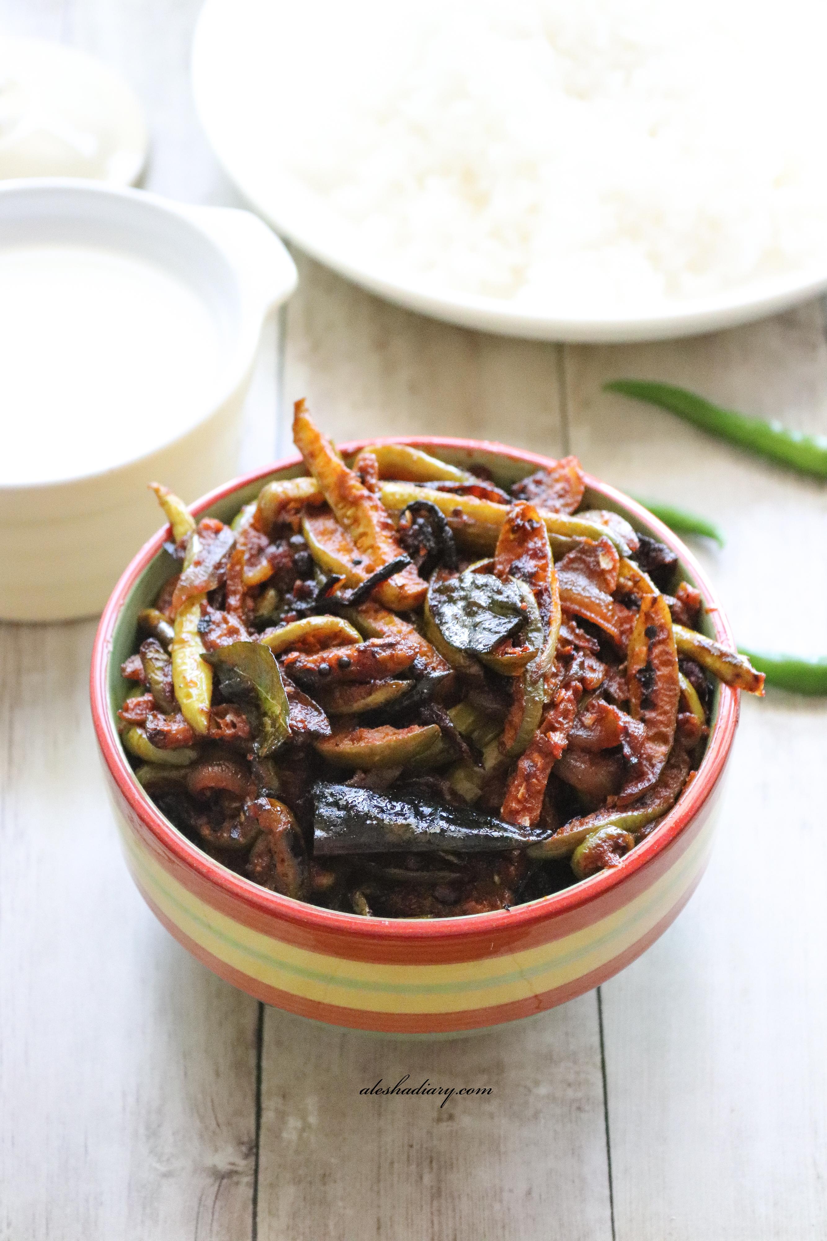 Spicy Kovakkai Poriyal – Spicy Ivy gourd(Tindora) stir-fry