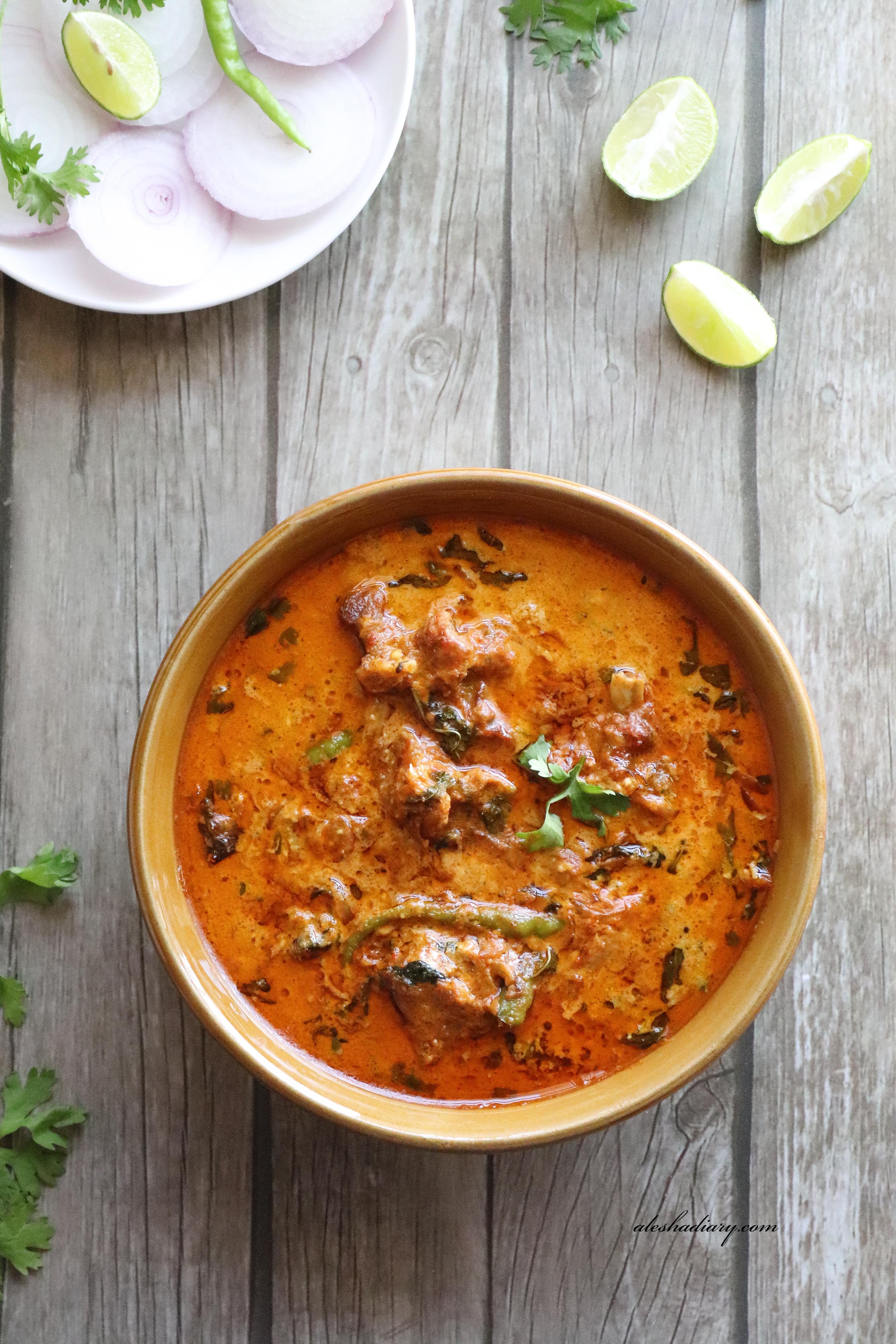 Mutton Korma – Hyderabadi style Mutton korma