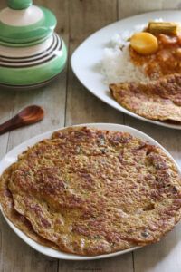 Egg omelette with coconut and spices-Egg adai – Muttai adai