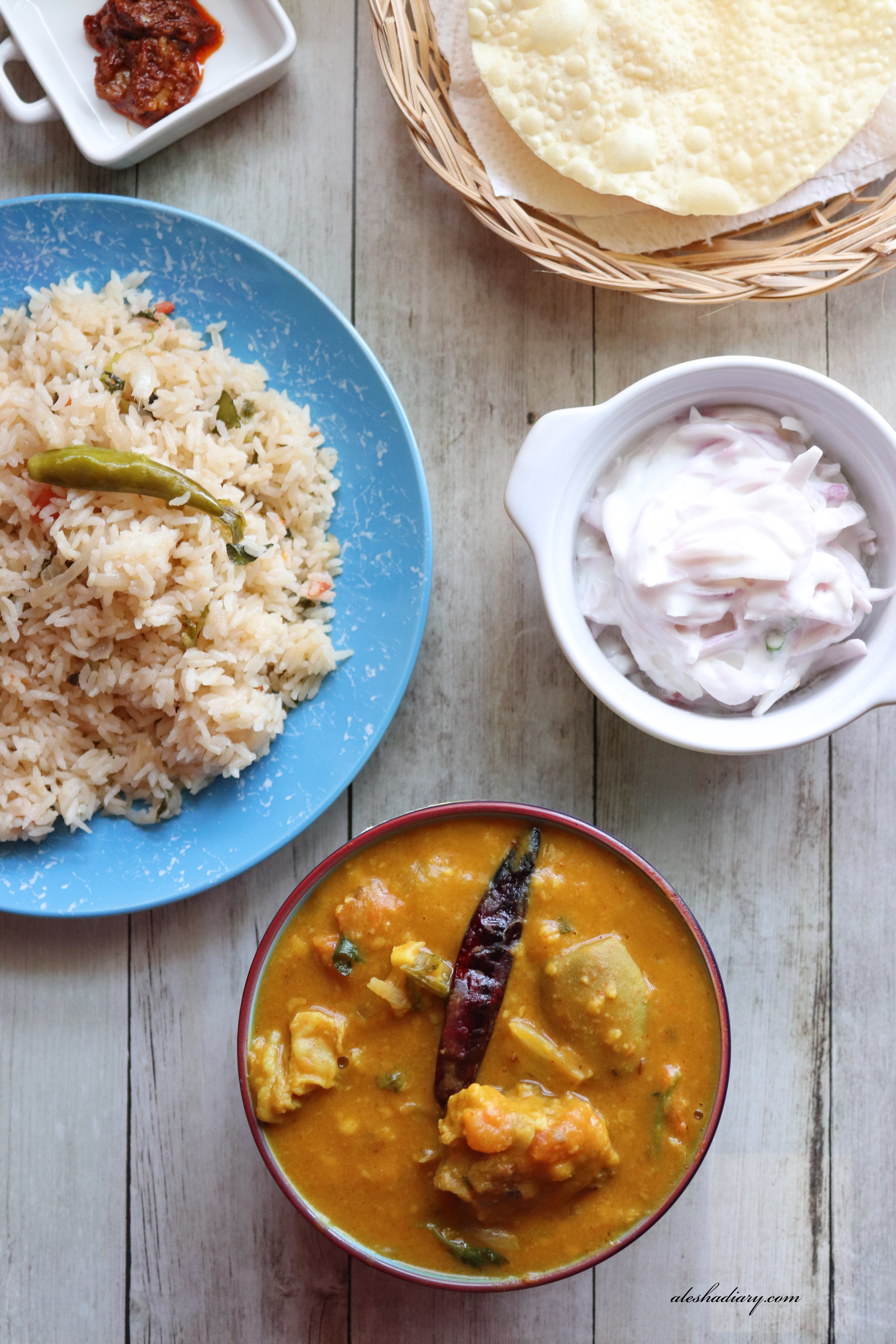 Mutton Dalcha – Sidedish for Biryani, Ghee Rice