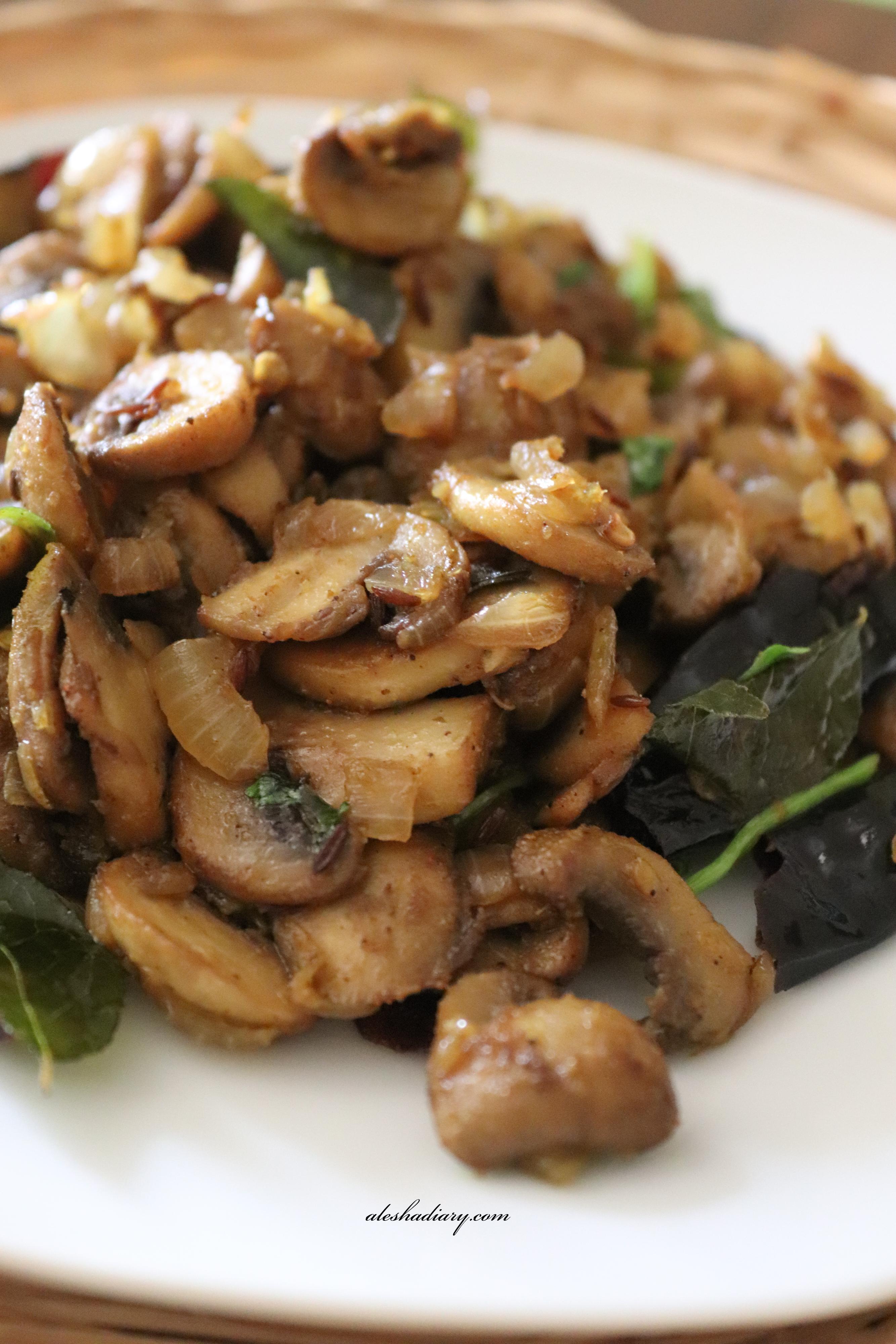 Kombu Barthad (Coorg Recipe) – Mushroom Fry
