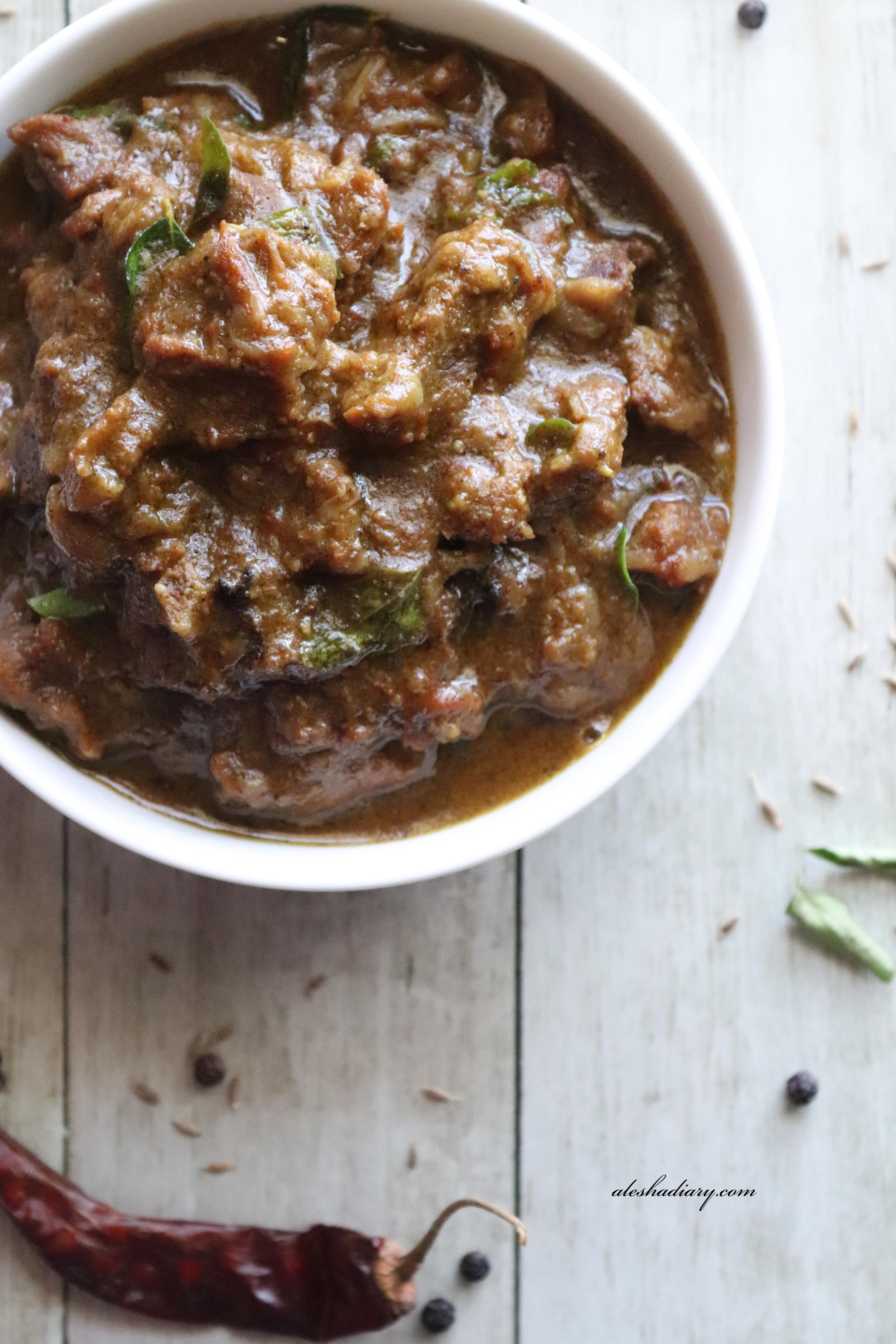 Mutton Pepper Masala – Pepper Mutton Gravy – Mutton milagu Gravy (using Pressure cooker)