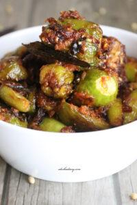 Dondakaya Ulli Karam – Tindora onion masala