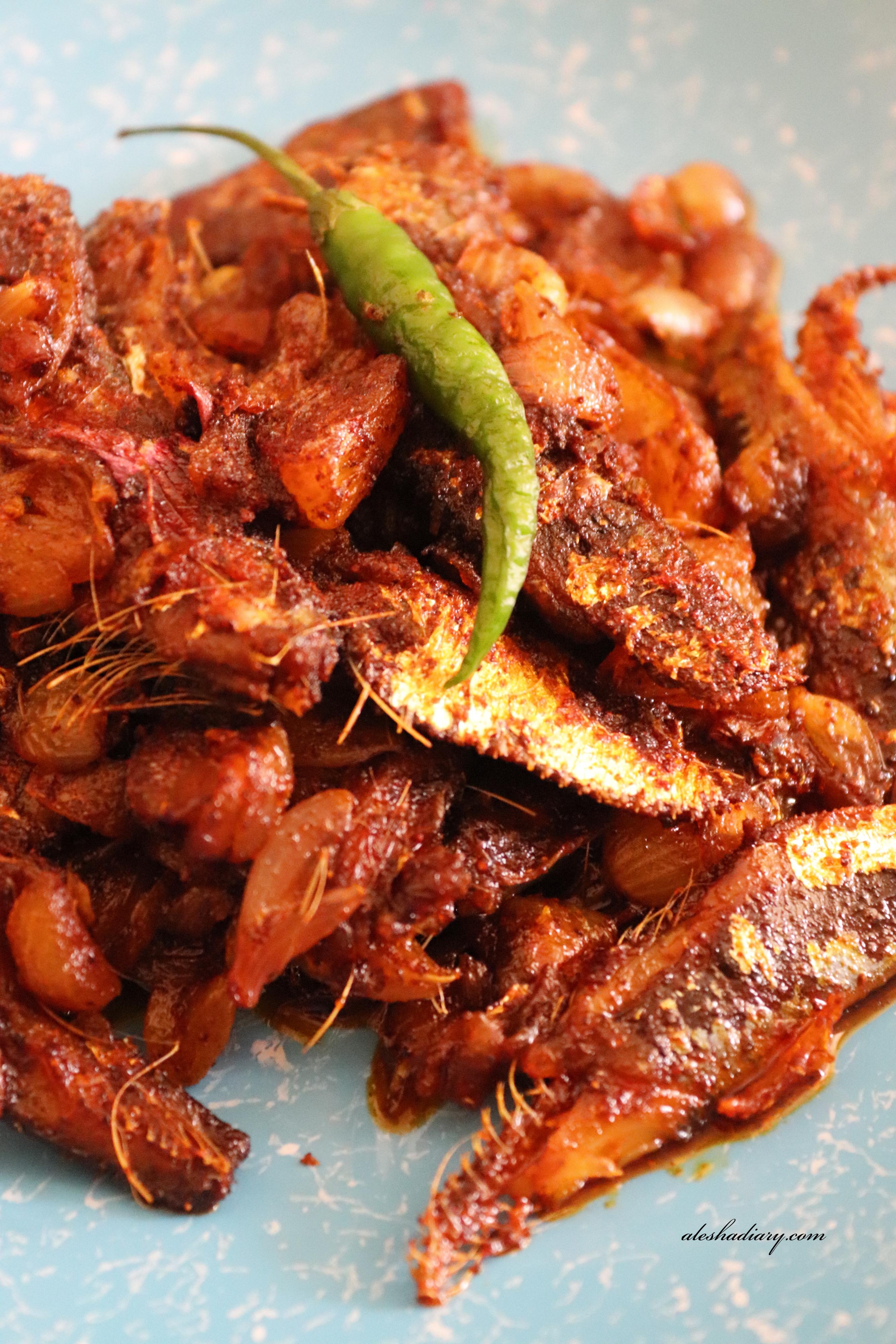 Chala karuvadu fry – Dry Sardine fish(Mathi) fry