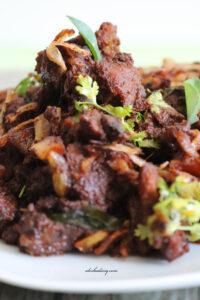Erachi varattiyathu – Malabar style Spicy Mutton Roast