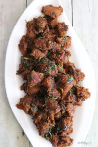 Coconut Mutton Fry – Thengai Kari – மட்டன் தேங்காய் வறுவல்