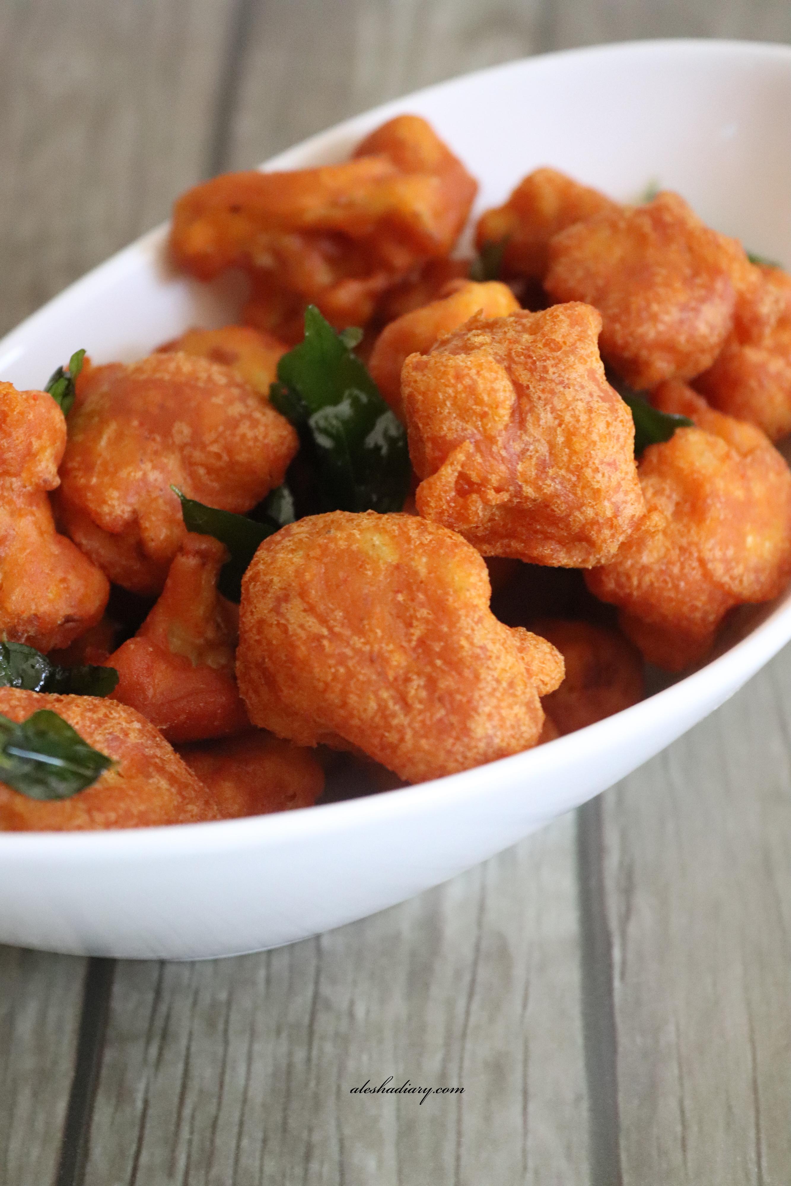 Cauliflower Bajji – Cauliflower fritters – Gobi bajji – காலிஃப்ளவர் பஜ்ஜி