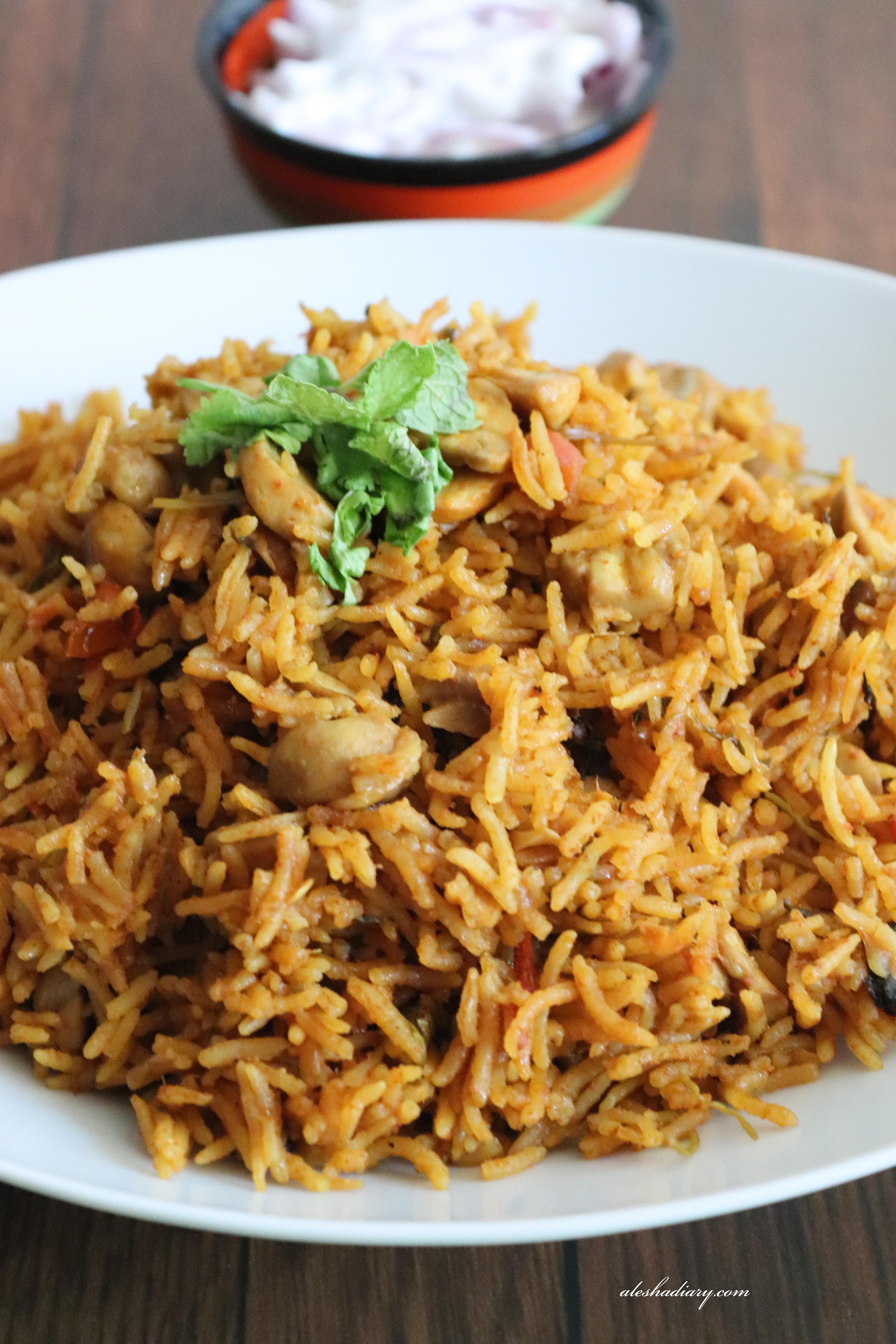 Mushroom Biryani – Kalan biryani – காளான் பிரியாணி