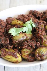 Gutti Dondakaya Vepudu – Andhra style Stuffed Ivy gourd