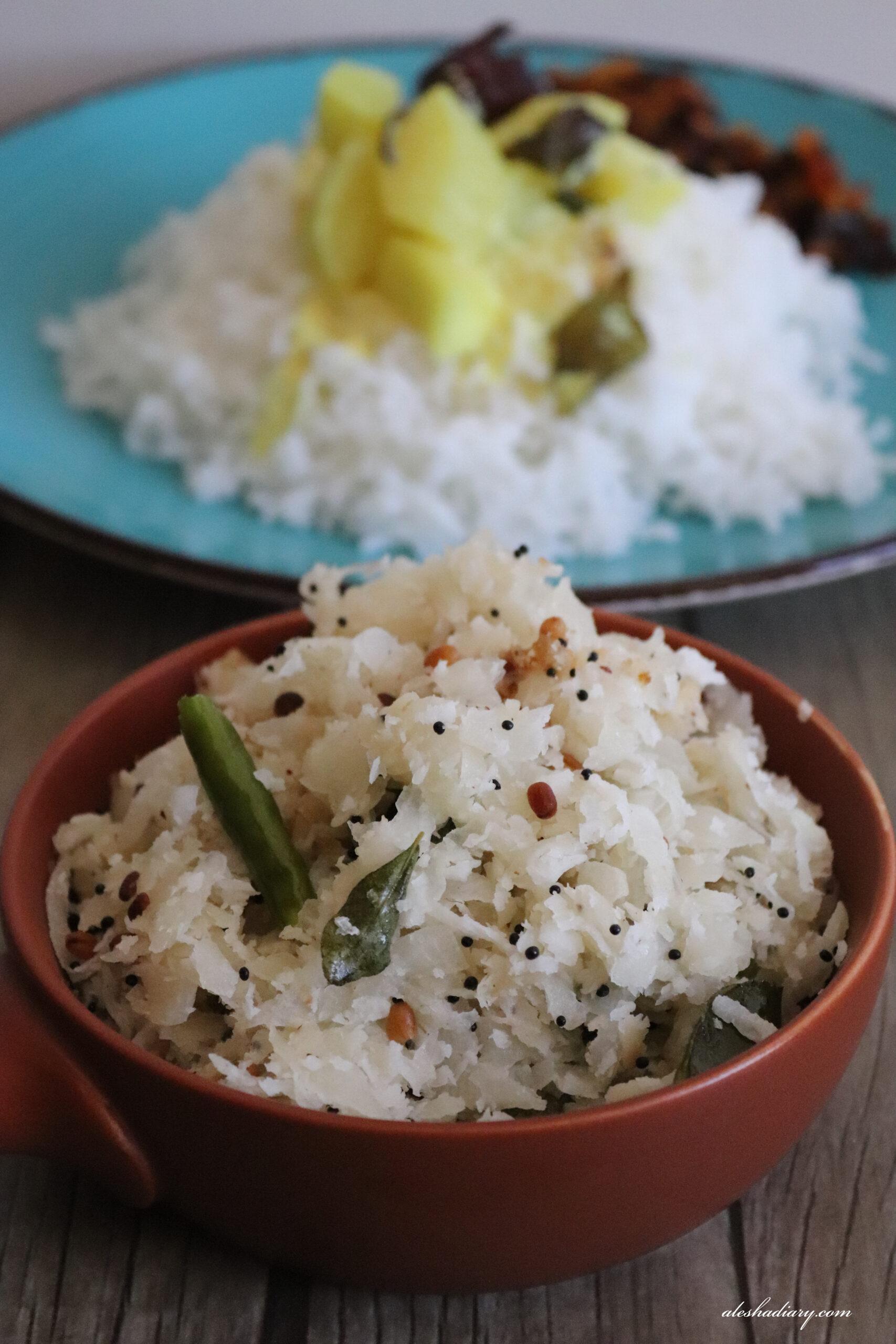 Radish stir fry with coconut – Mullangi Poriyal