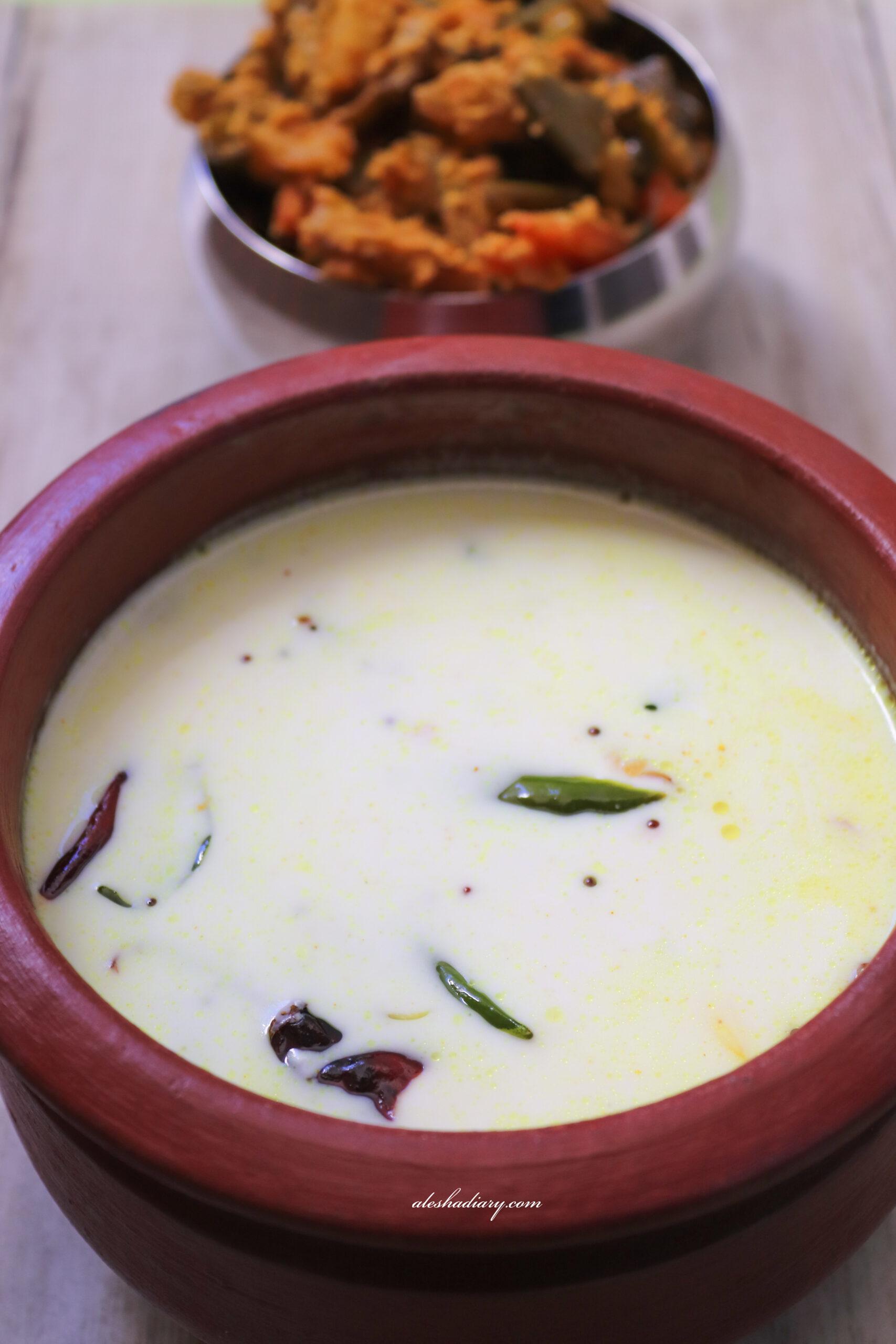 Moru curry (without coconut) – Seasoned Butter milk – Moru kachiyathu