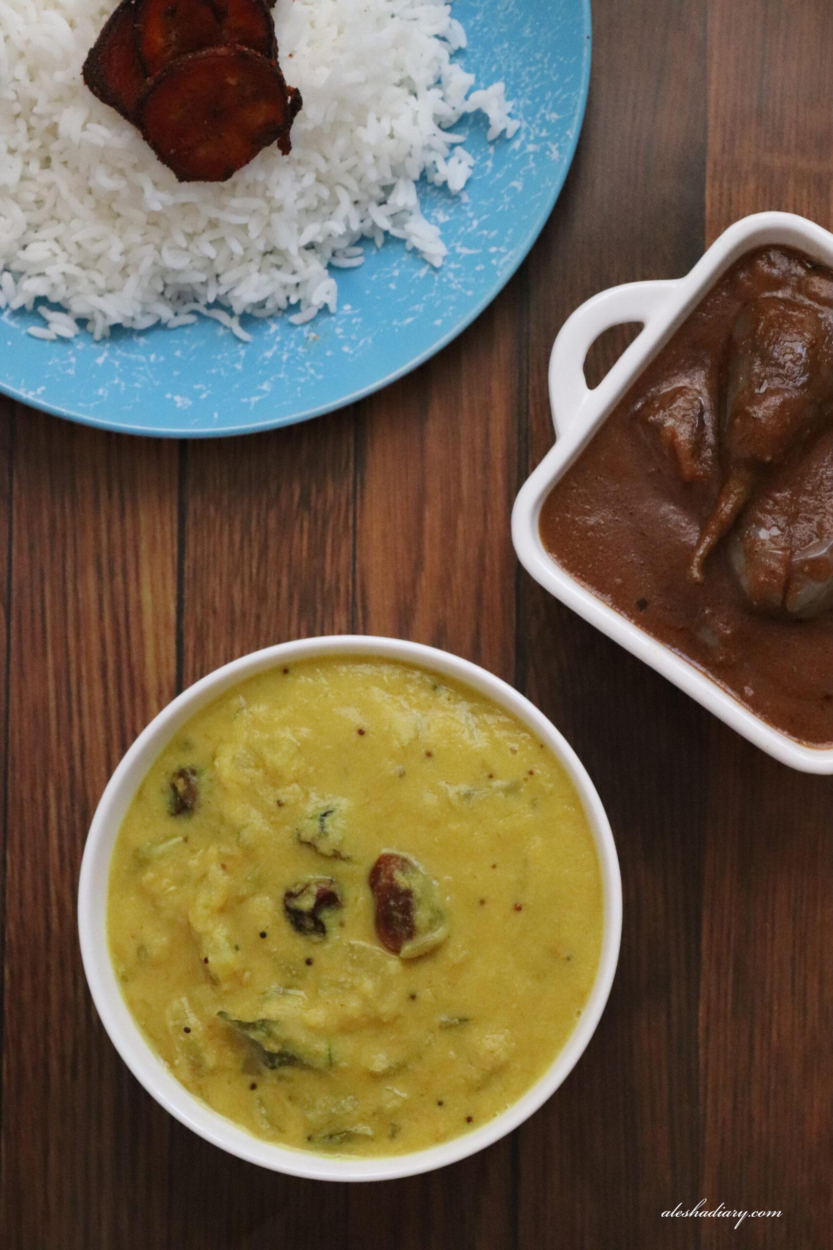 Yellow Cucumber Dal curry – Vellarikai Paruppu Kuzhambu