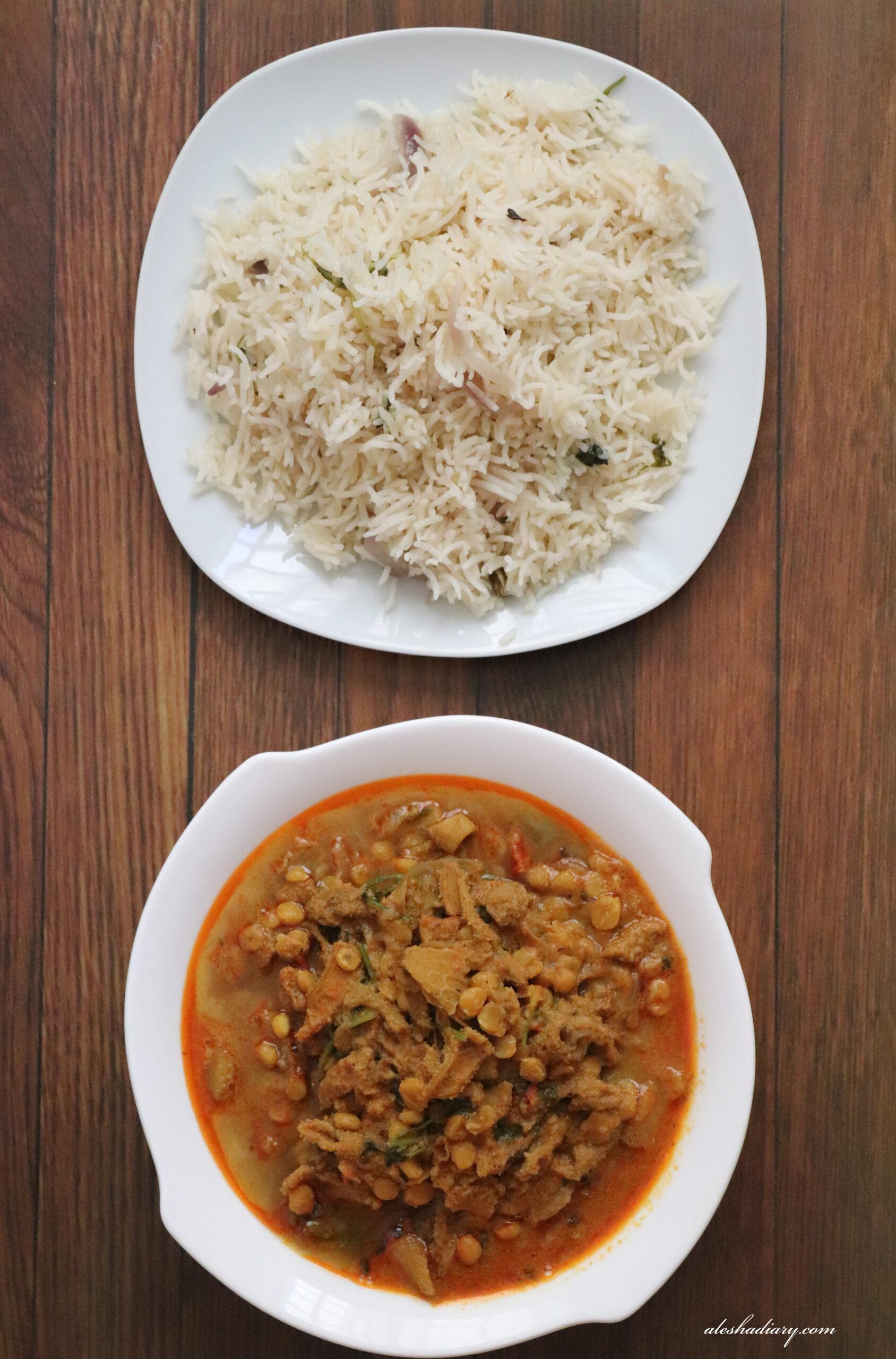Mutton Boti Chana dal Curry – Kudal Kadala Paruppu Kuzhambu