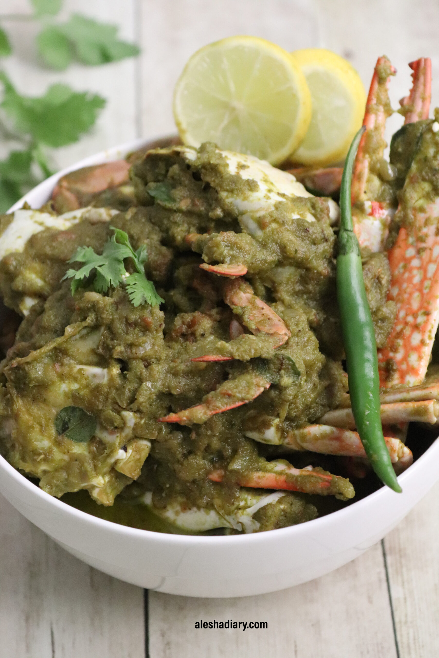 Crab Green masala