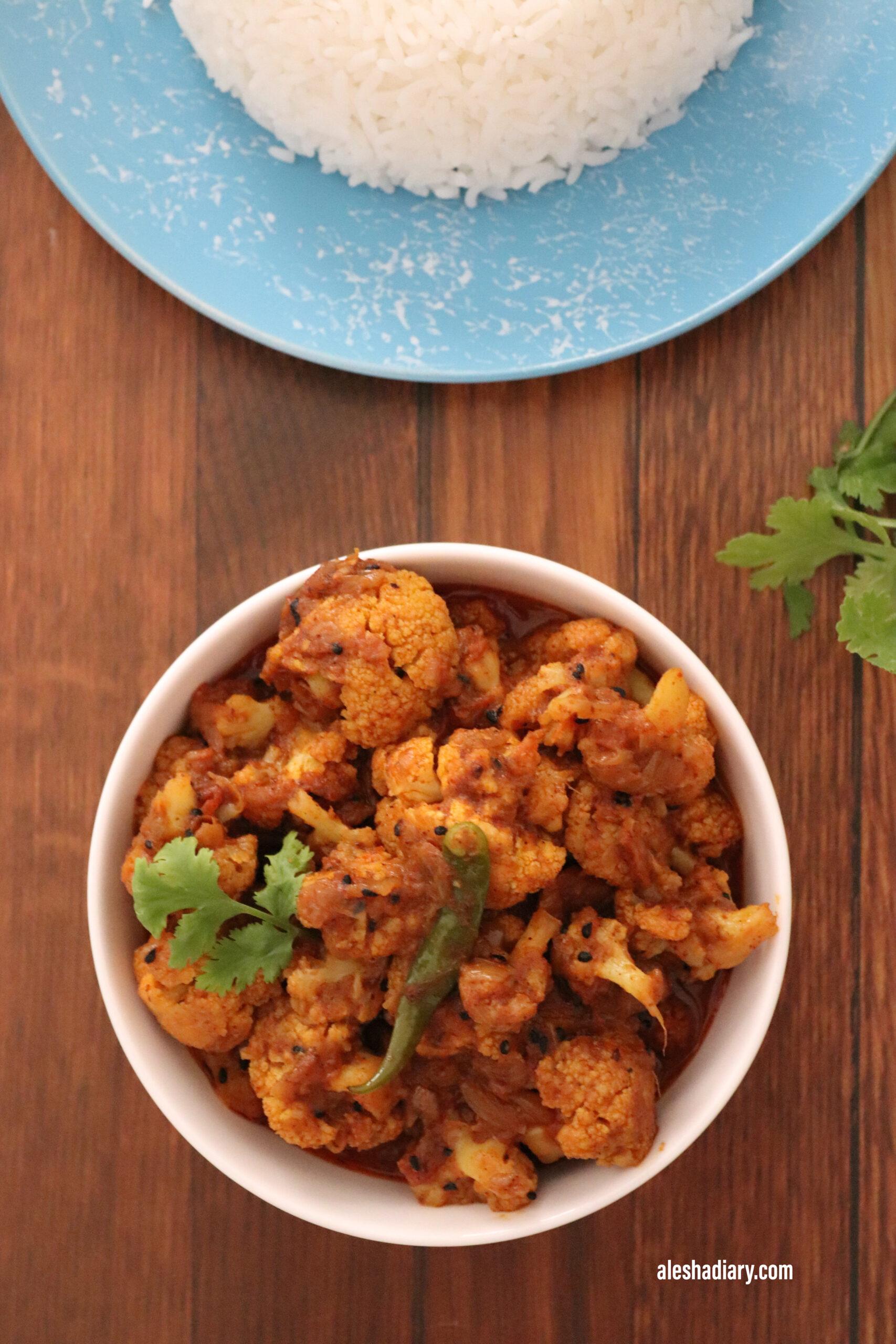 Achari Gobi – Cauliflower with Pickle spices