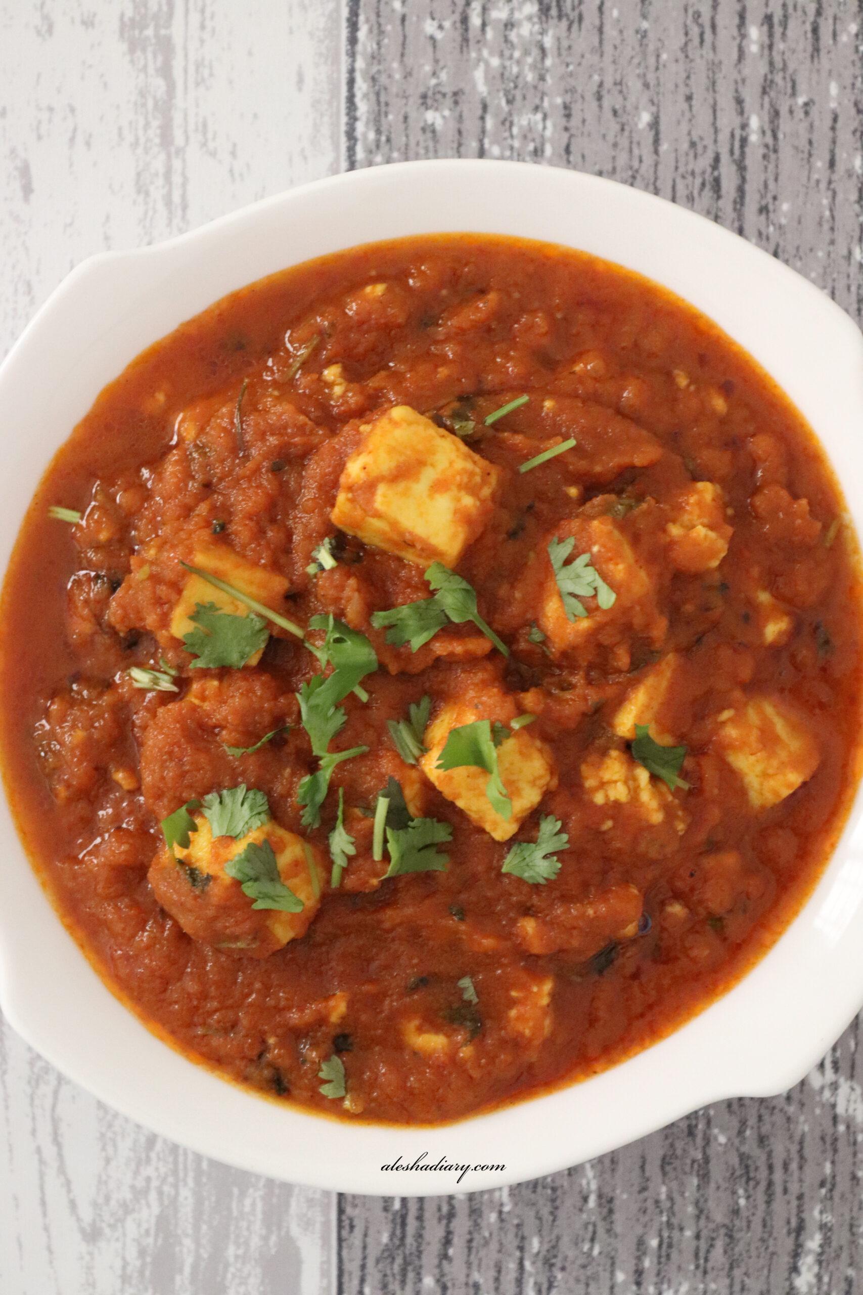 Paneer masala – Restaurant style paneer masala