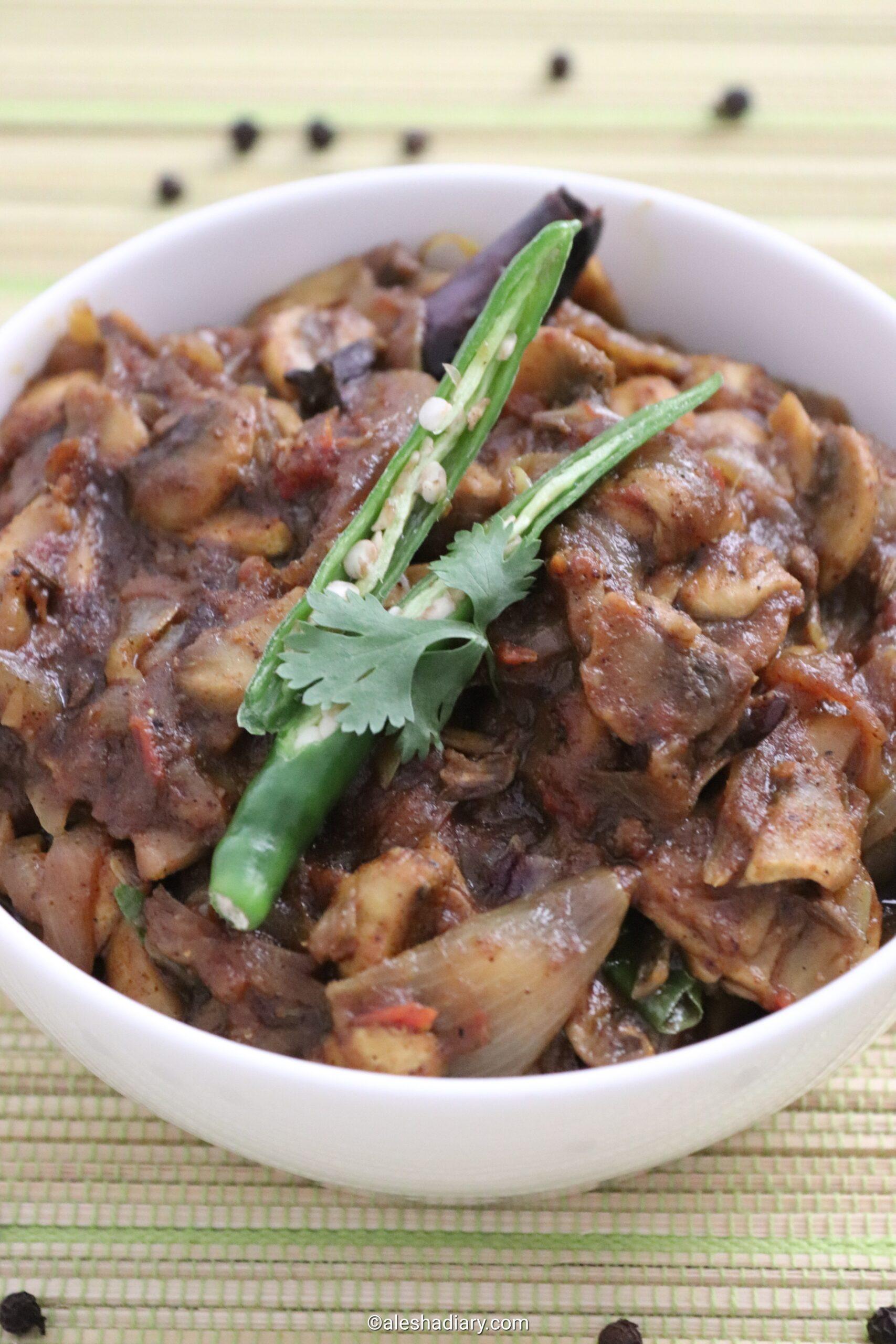 Mushroom Pepper Masala – Mushroom recipes
