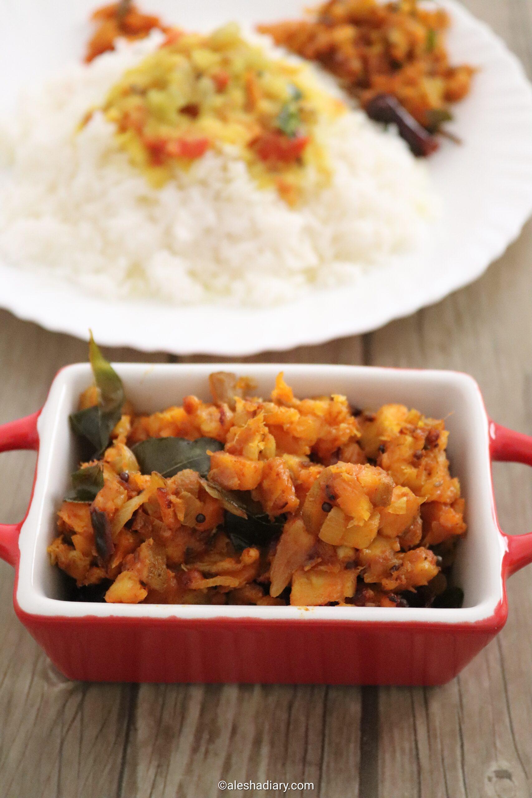 Vazhakkai vengaya curry – Raw Banana onion curry