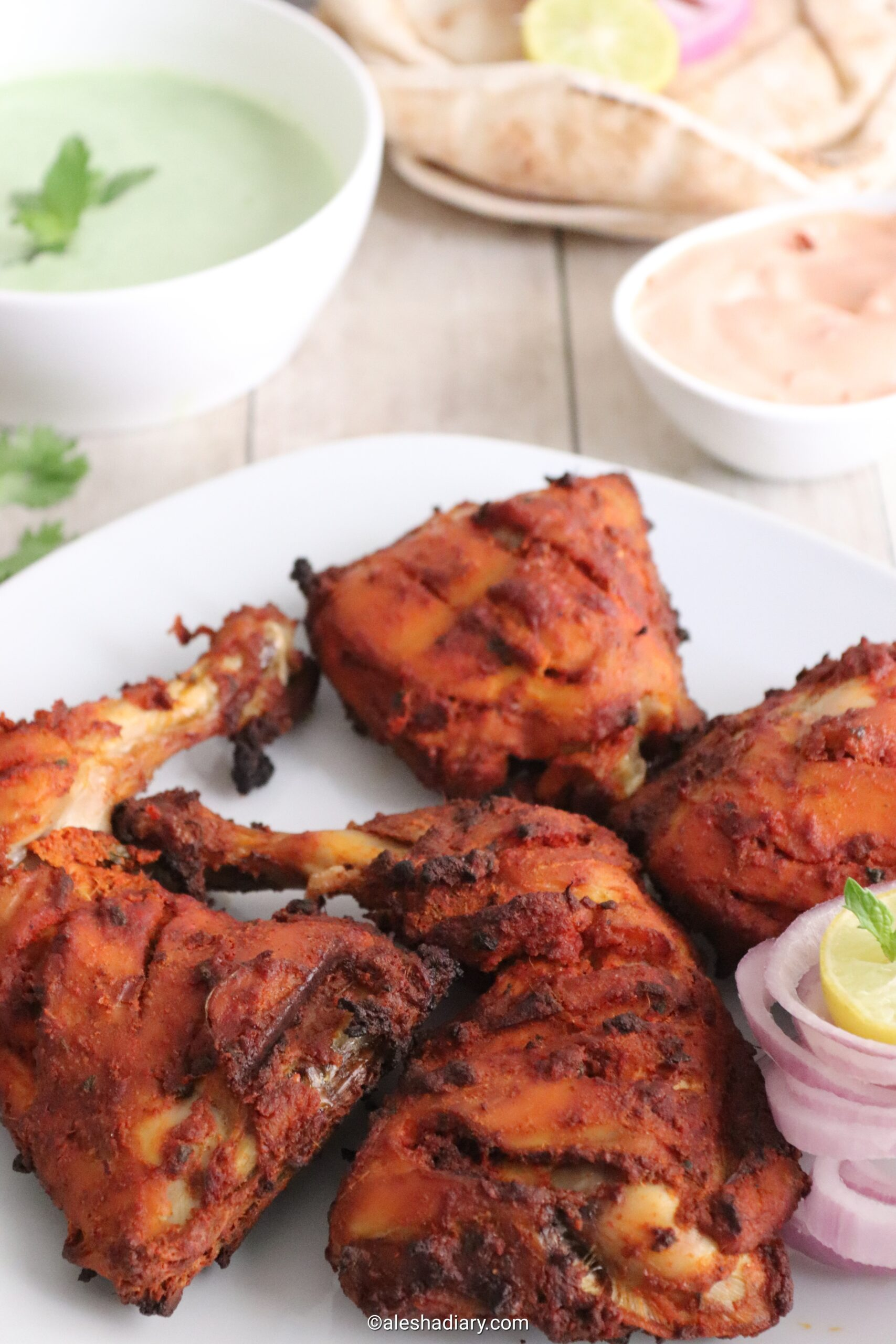 Tandoori Chicken – Tandoori chicken in oven