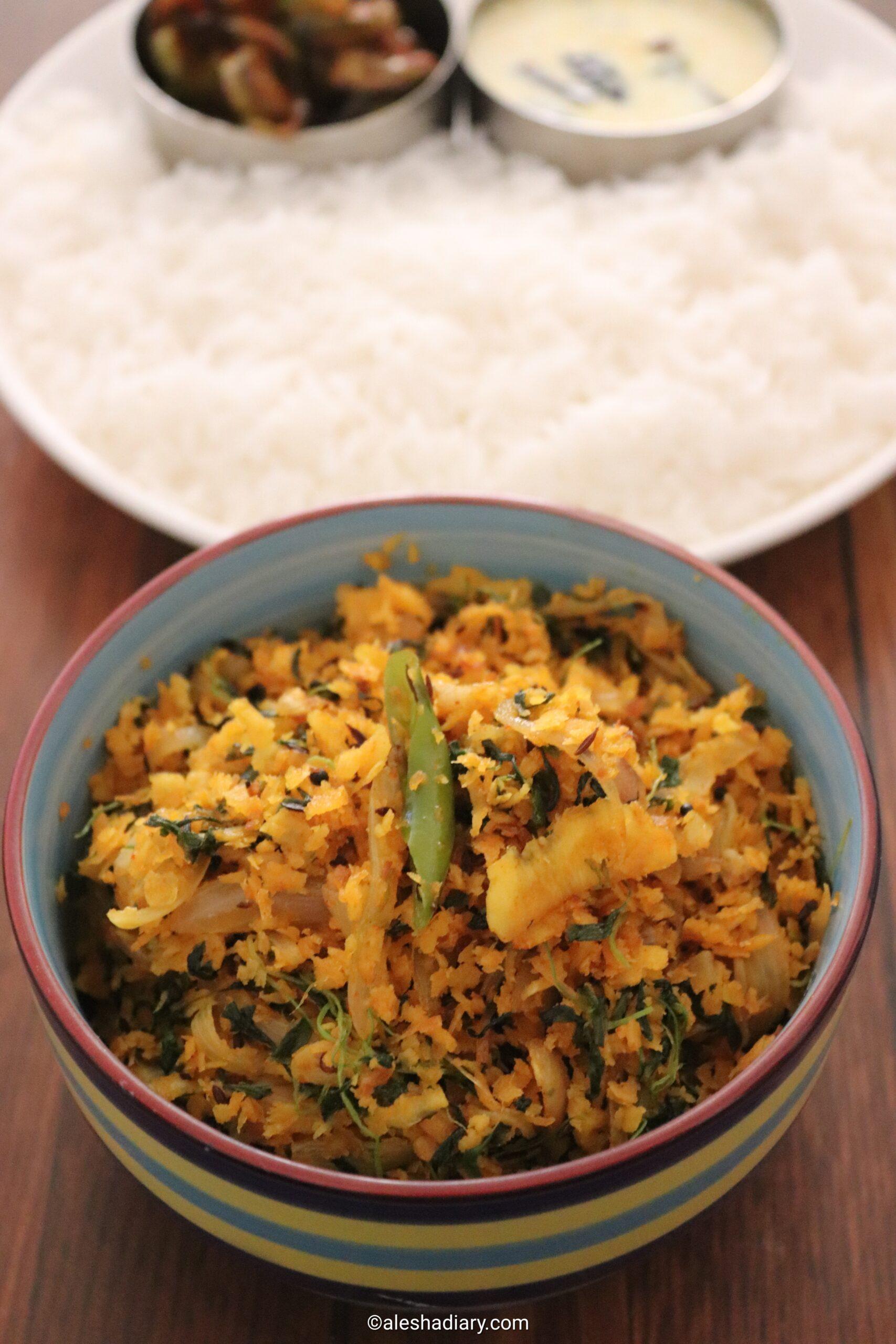Vendaya keerai Thoran – Methi (Fenugreek) leaves with coconut stir-fry