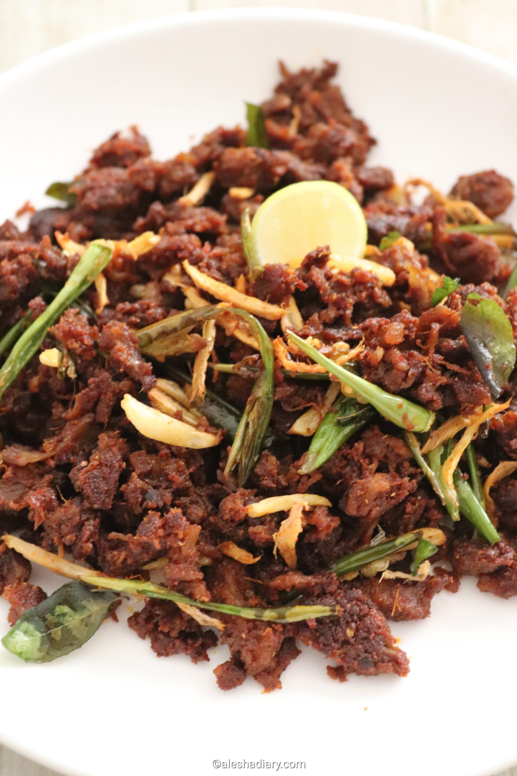Mutton chilli – Crispy mutton chilli