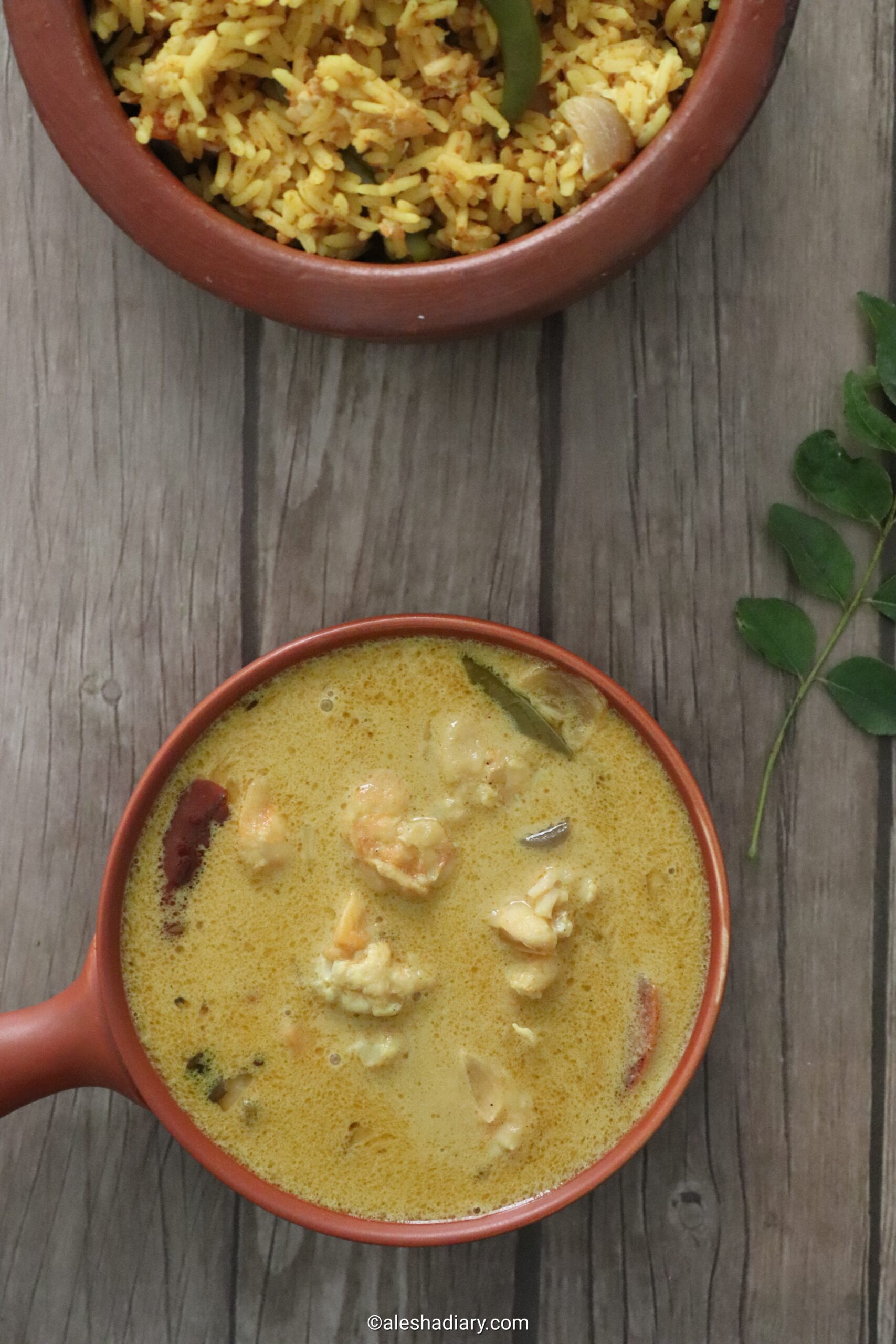 Prawn Mappas – Kerala style prawn coconut curry