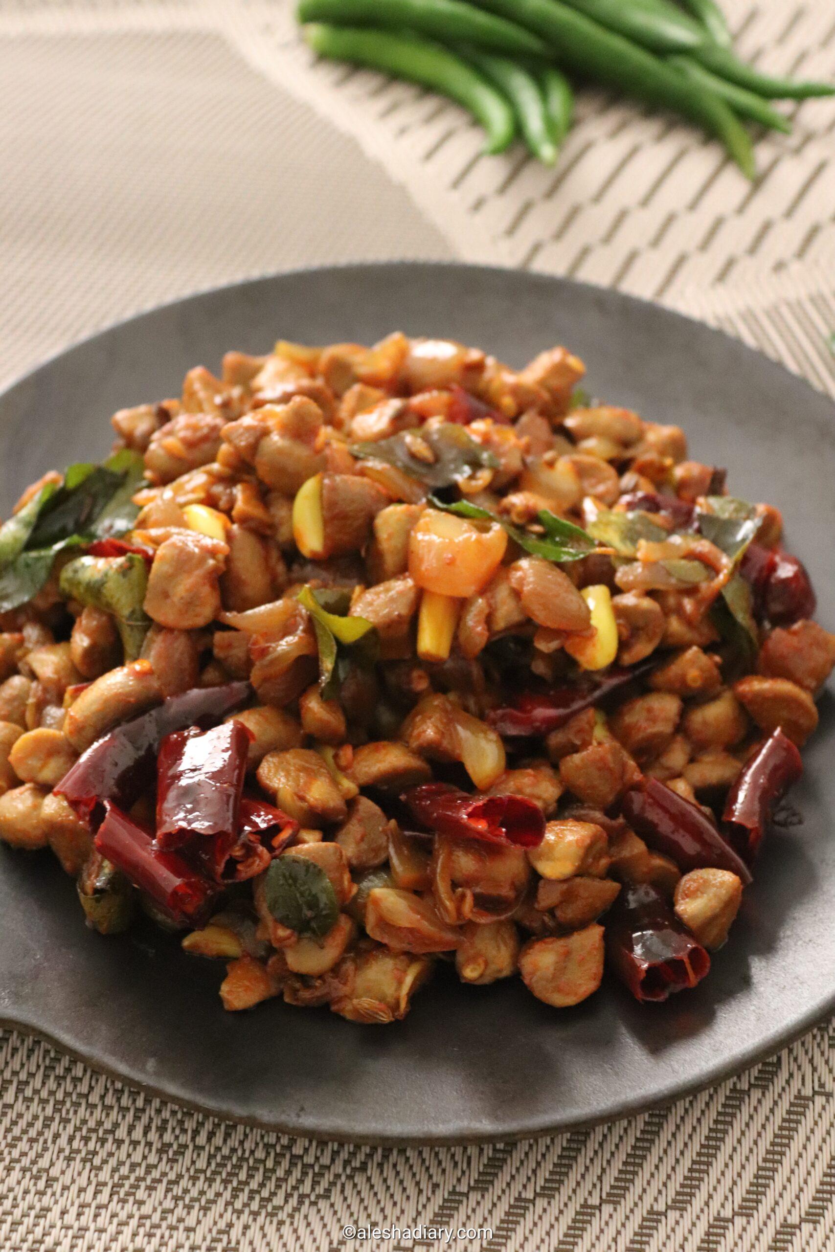 Mushroom uppu kari – Mushroom stir-fry