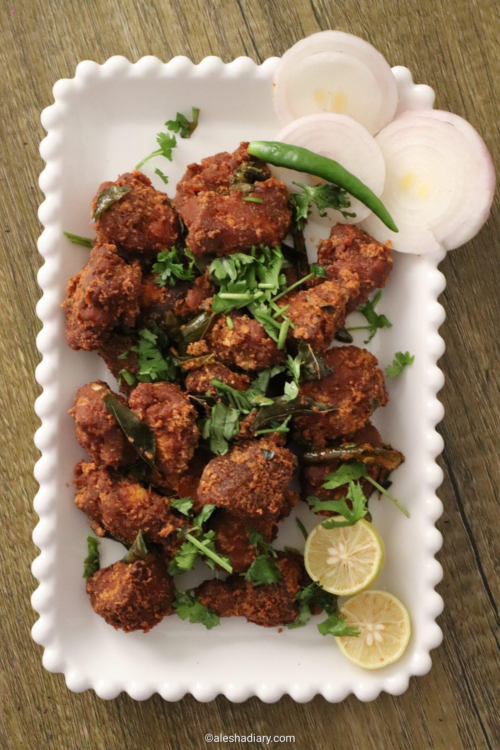 Hyderabadi style Chicken 65 – Hyderabadi restaurant style chicken 65