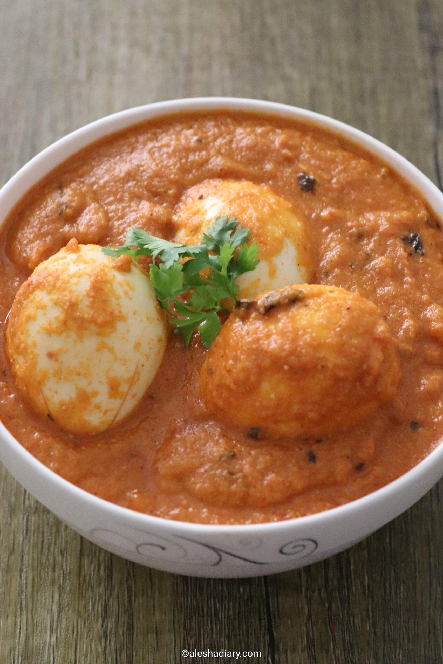 Egg butter masala