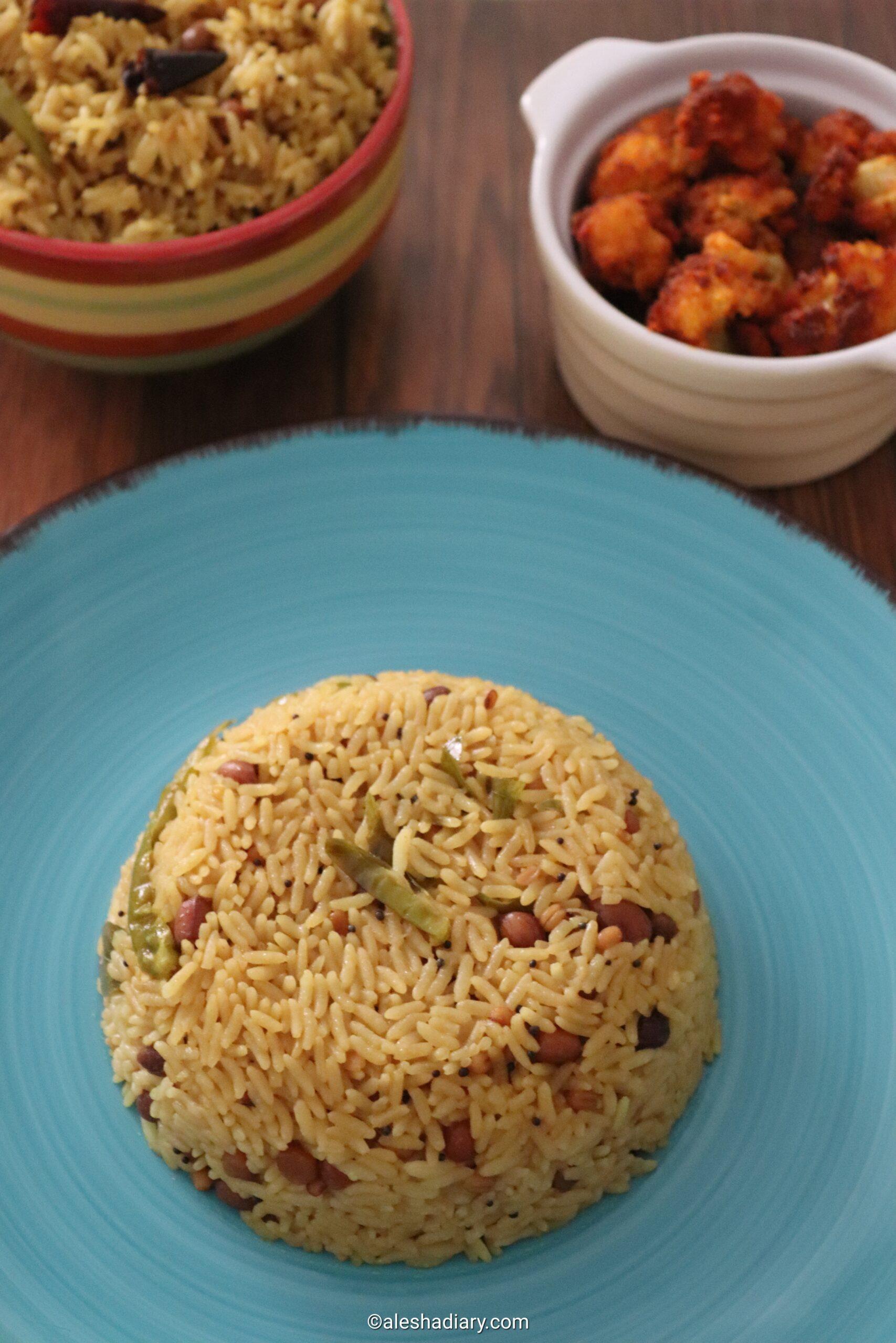 Puli sadam – One pot puli sadam – Puliyodarai -Tamarind Rice