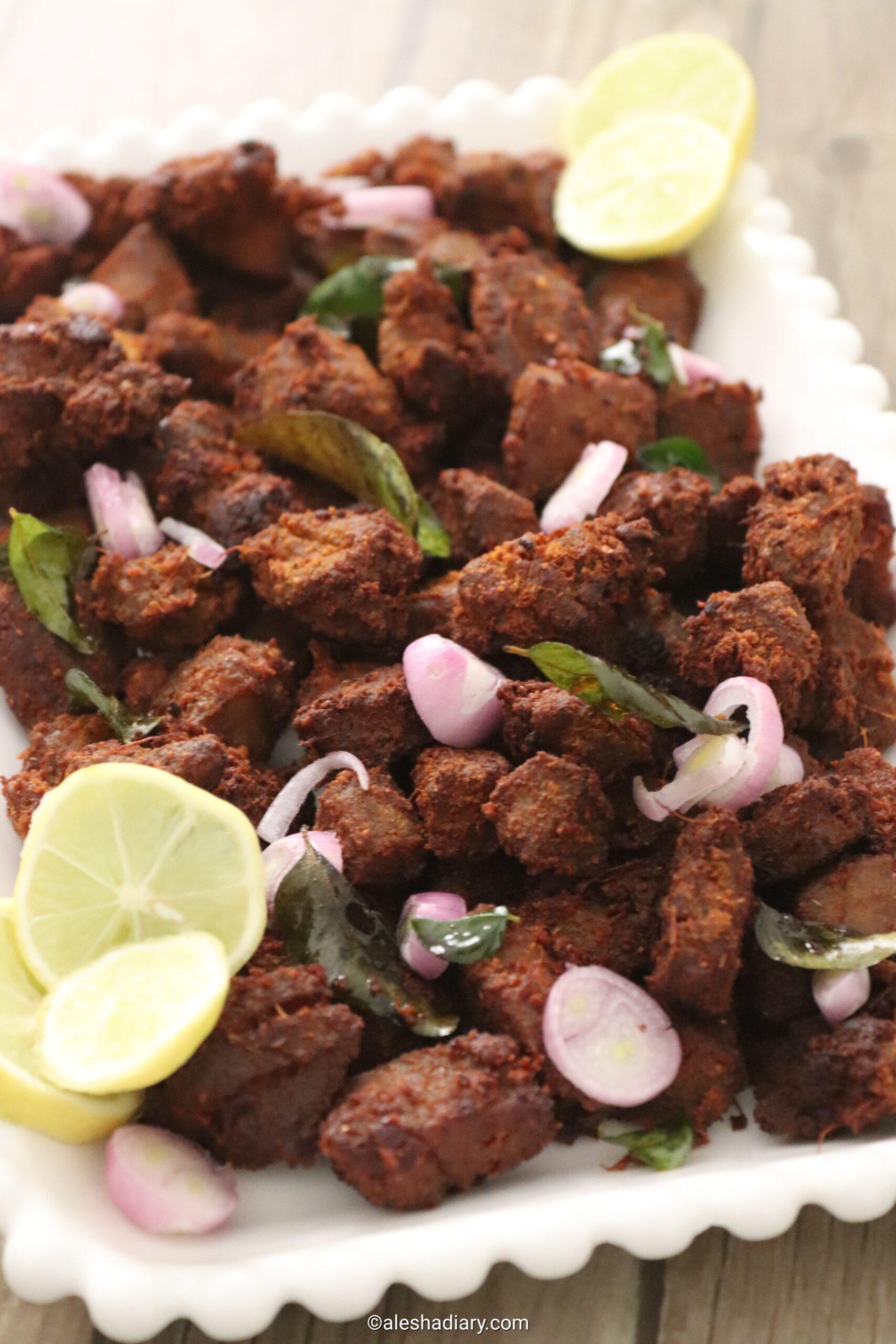 Tuna Fish Fry – Choora meen porichathu  – Choora fry – Surai meen varuval