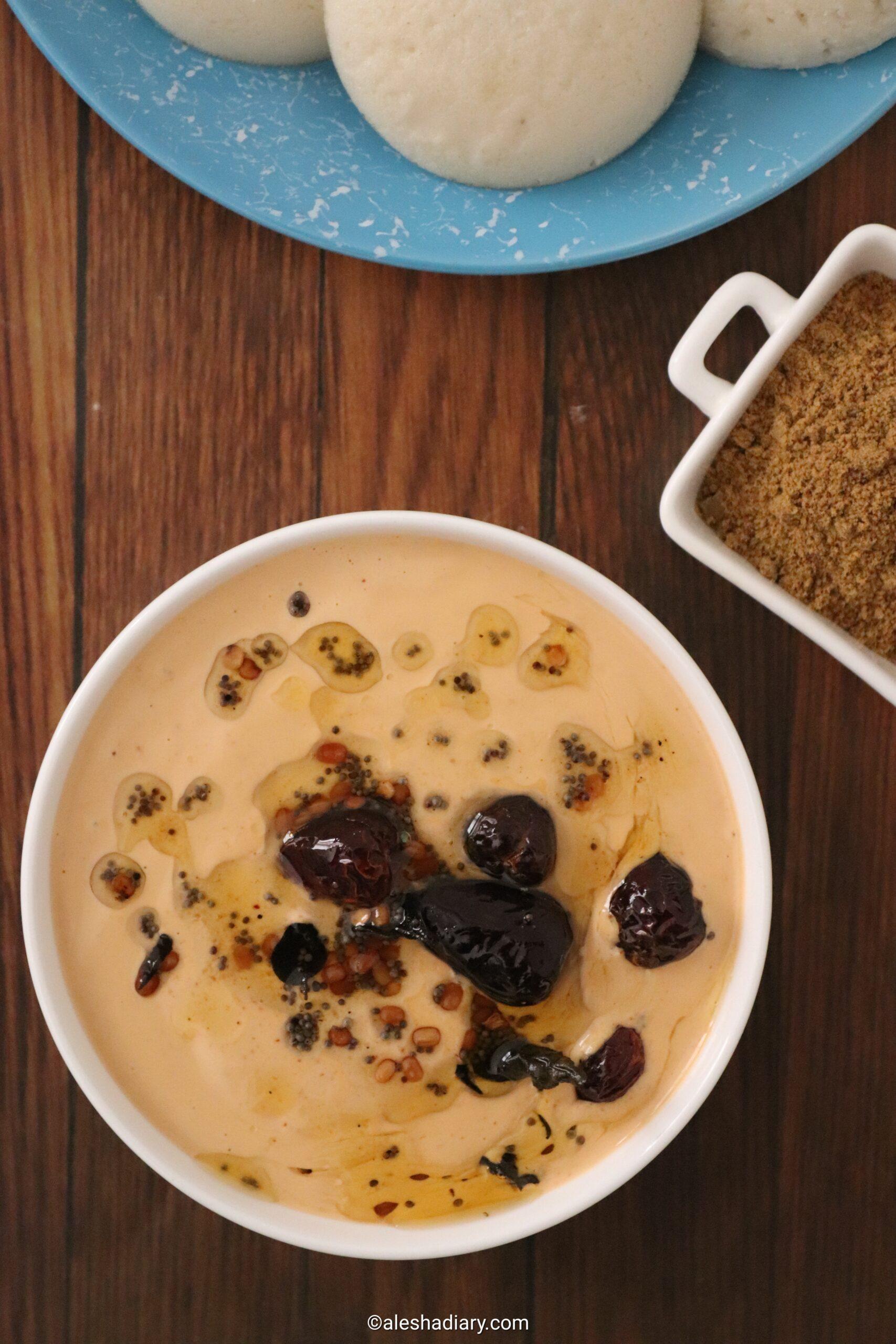 Peanut chutney – Groundnut chutney without coconut – Verkadalai chutney