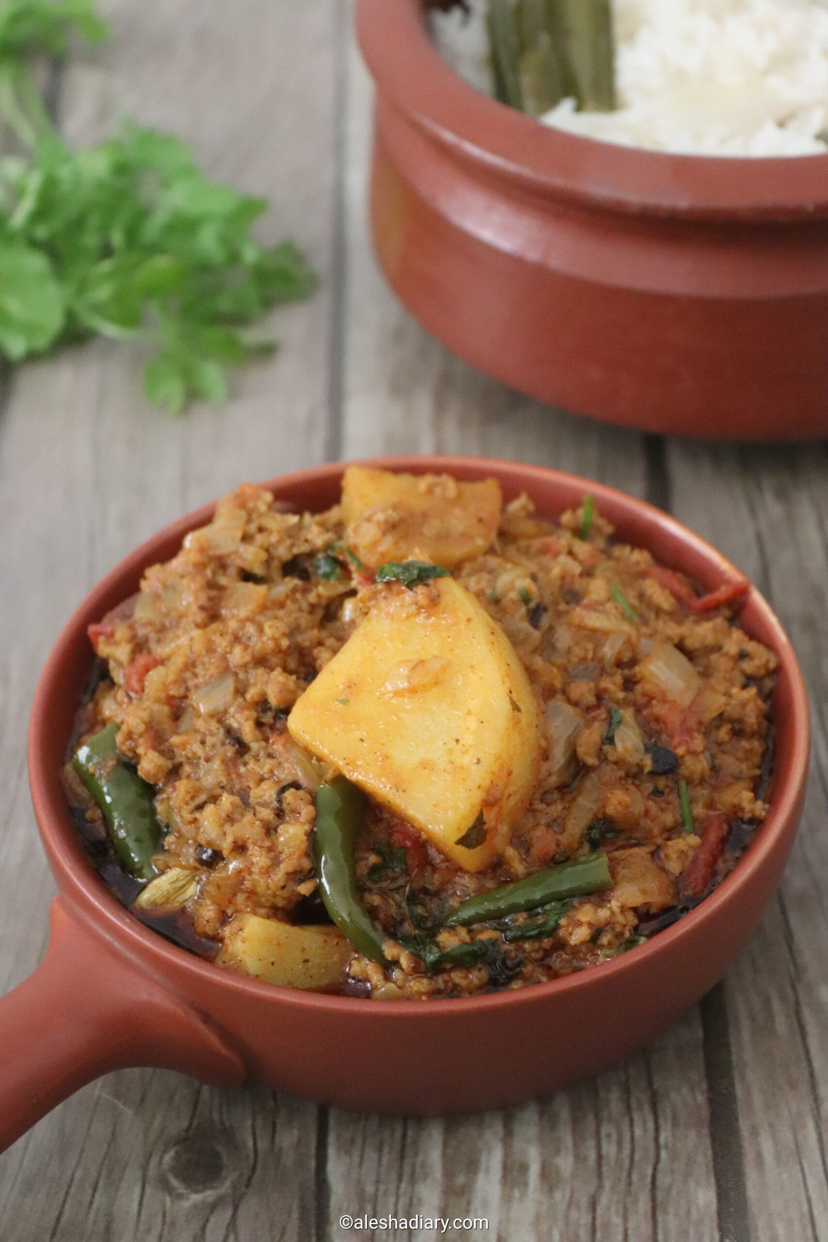 Aloo kheema masala – Potato minced meat masala – Aloo keema masala
