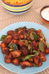 Chilli flakes chicken fry – Nadan chicken fry – Kerala chicken fry