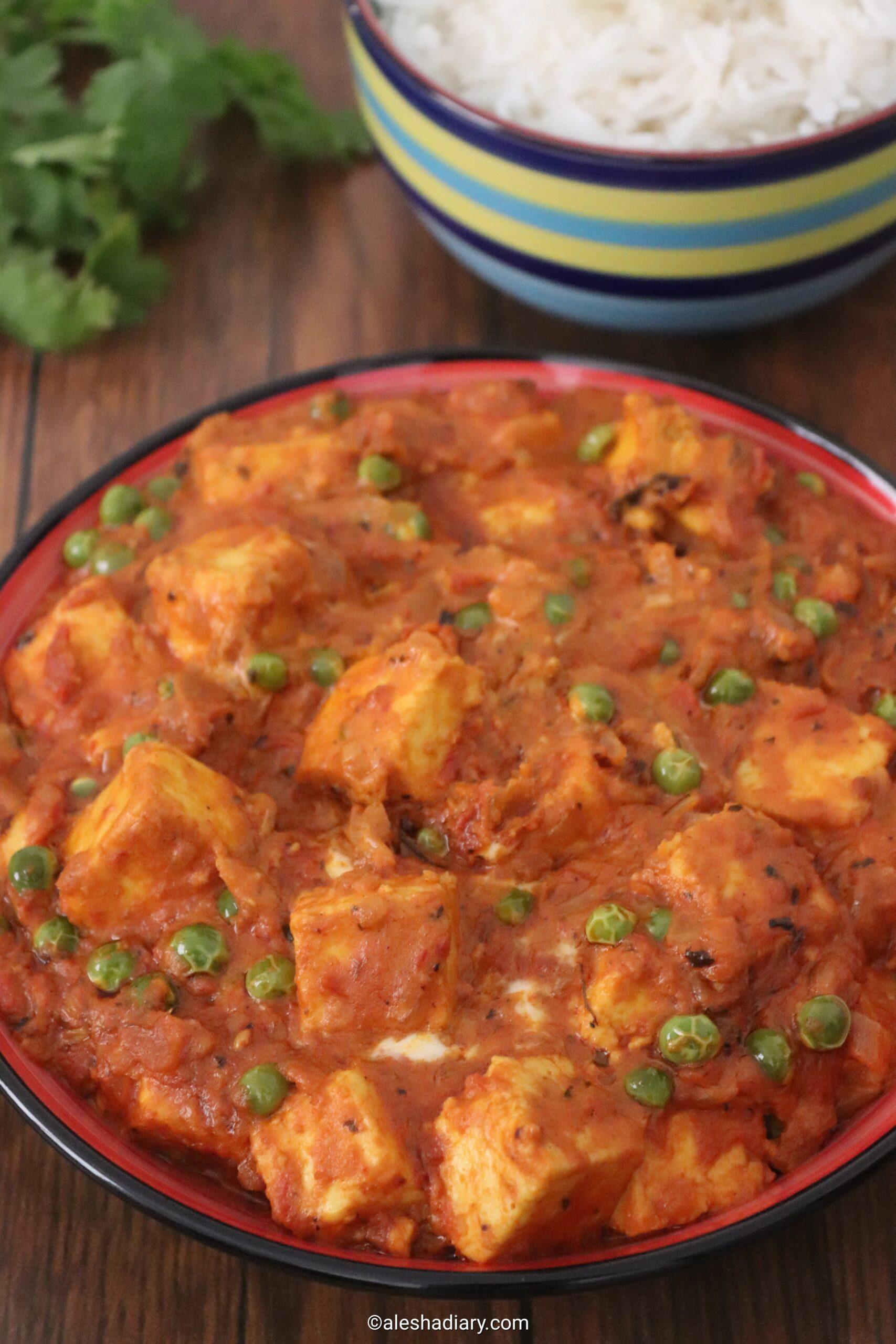 Paneer peas masala – Matar paneer