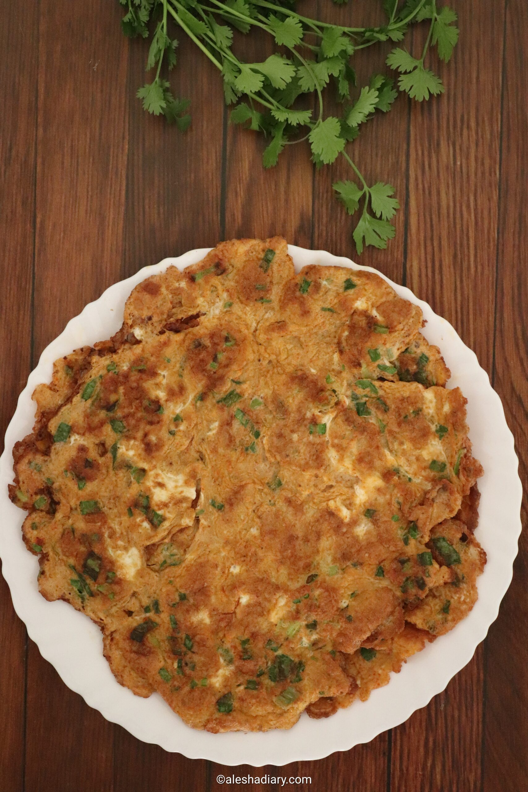 Spring onion omelette – Spring onion egg fry