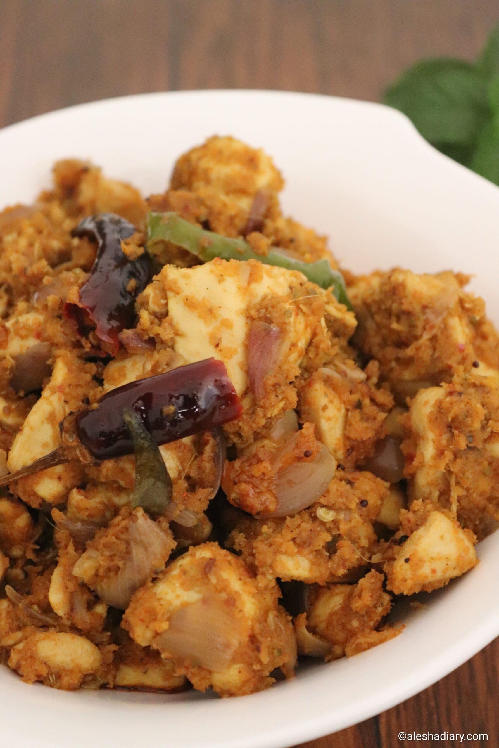 Chicken thoran – Chicken coconut stir fry